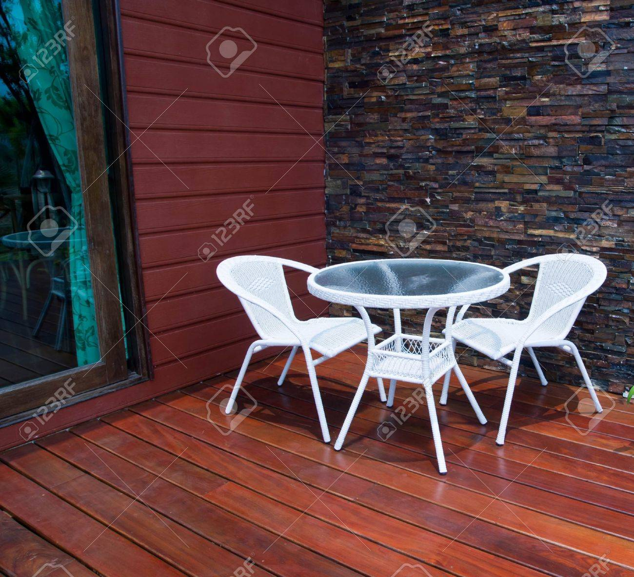 chair on the patio Stock Photo - 13694792