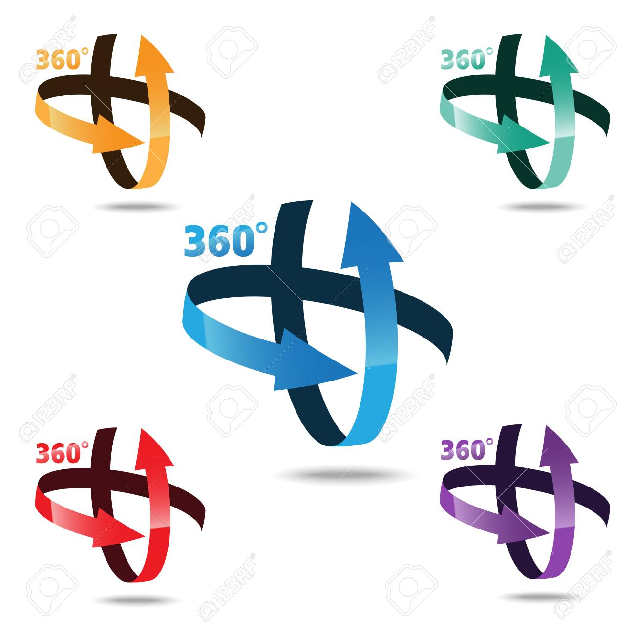 Angle 360 Degrees Sign Icon Geometry Math Symbol Royalty Free