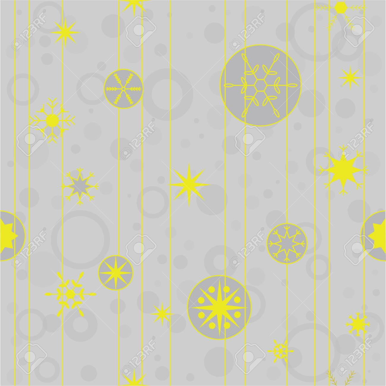 Vector Seamless Pattern For Christmas Cards Invitations