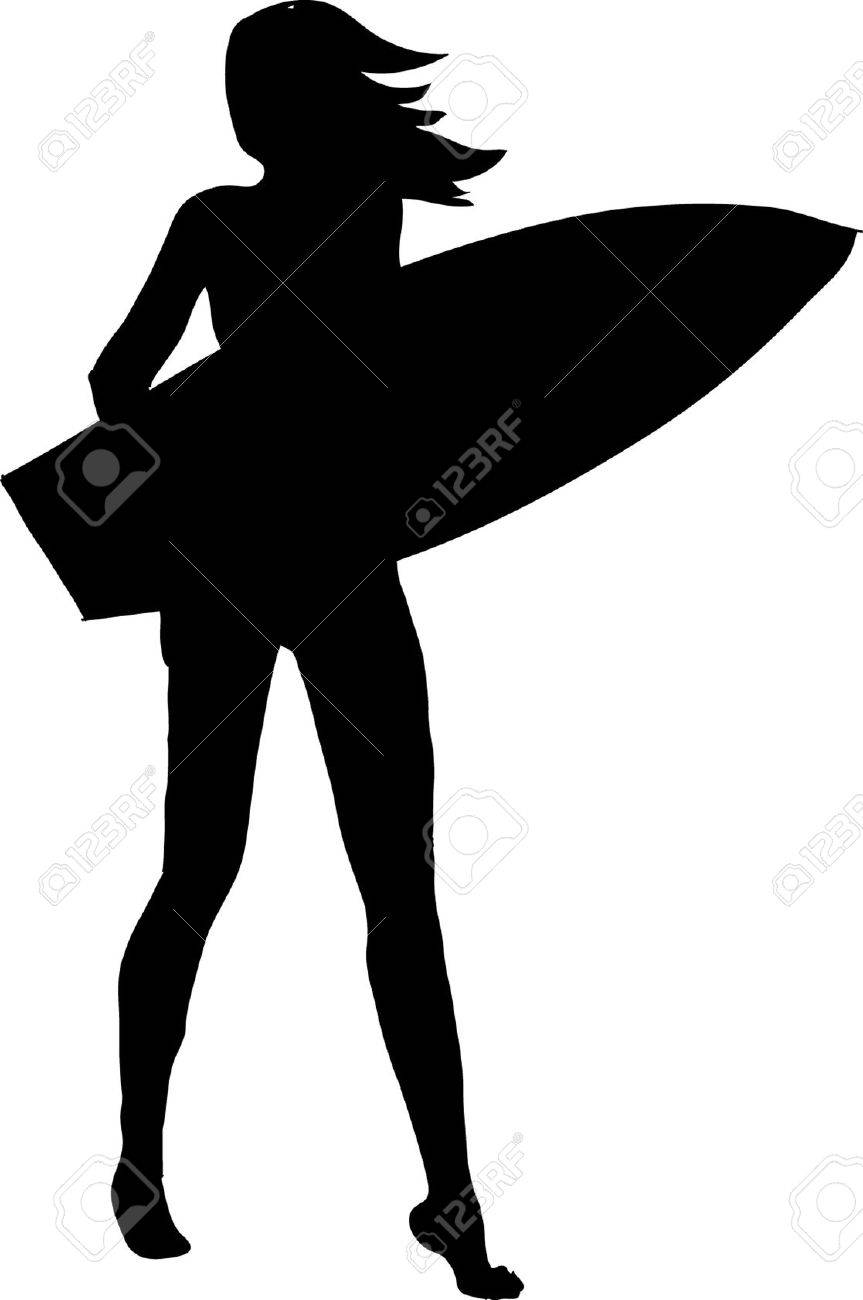 surfer girl royalty free cliparts vectors and stock illustration rh 123rf com Surfer Girl Silhouette Clip Art California Girl Surfing Clip Art