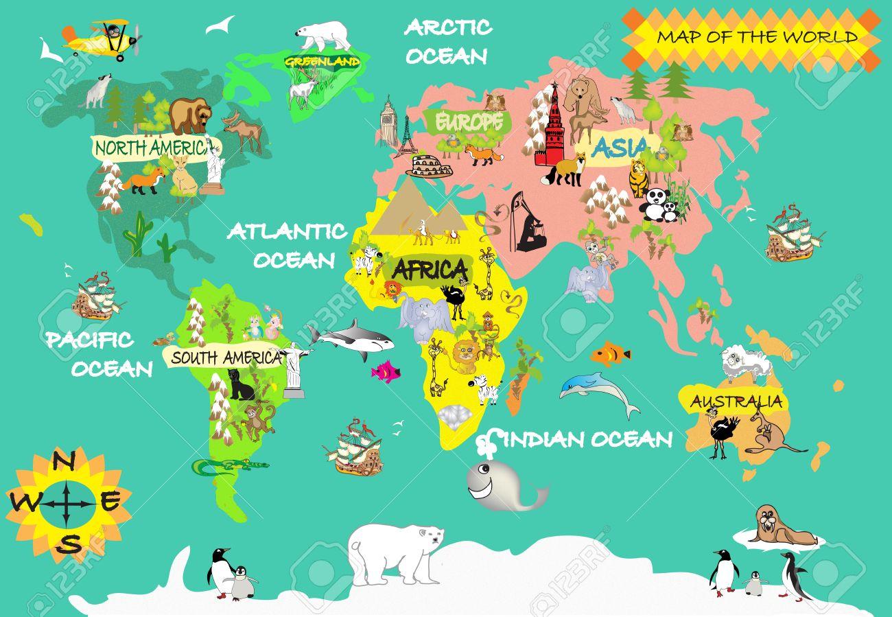 16 контурные карты россия сша индийский океан атлантический океан тихий океан канада