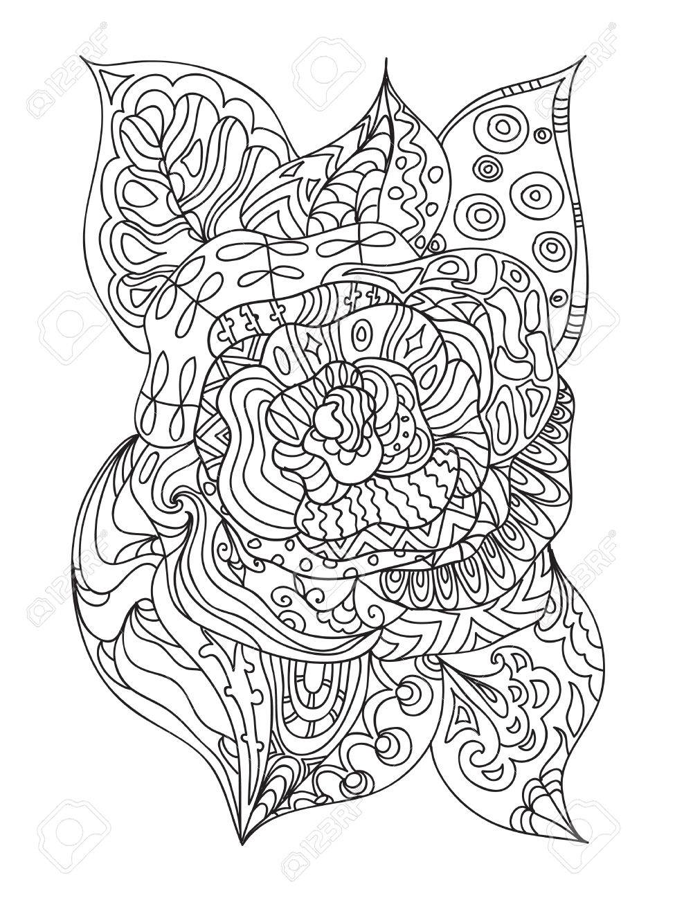 Rose Zentangle Royalty Free Cliparts Vectors And Stock