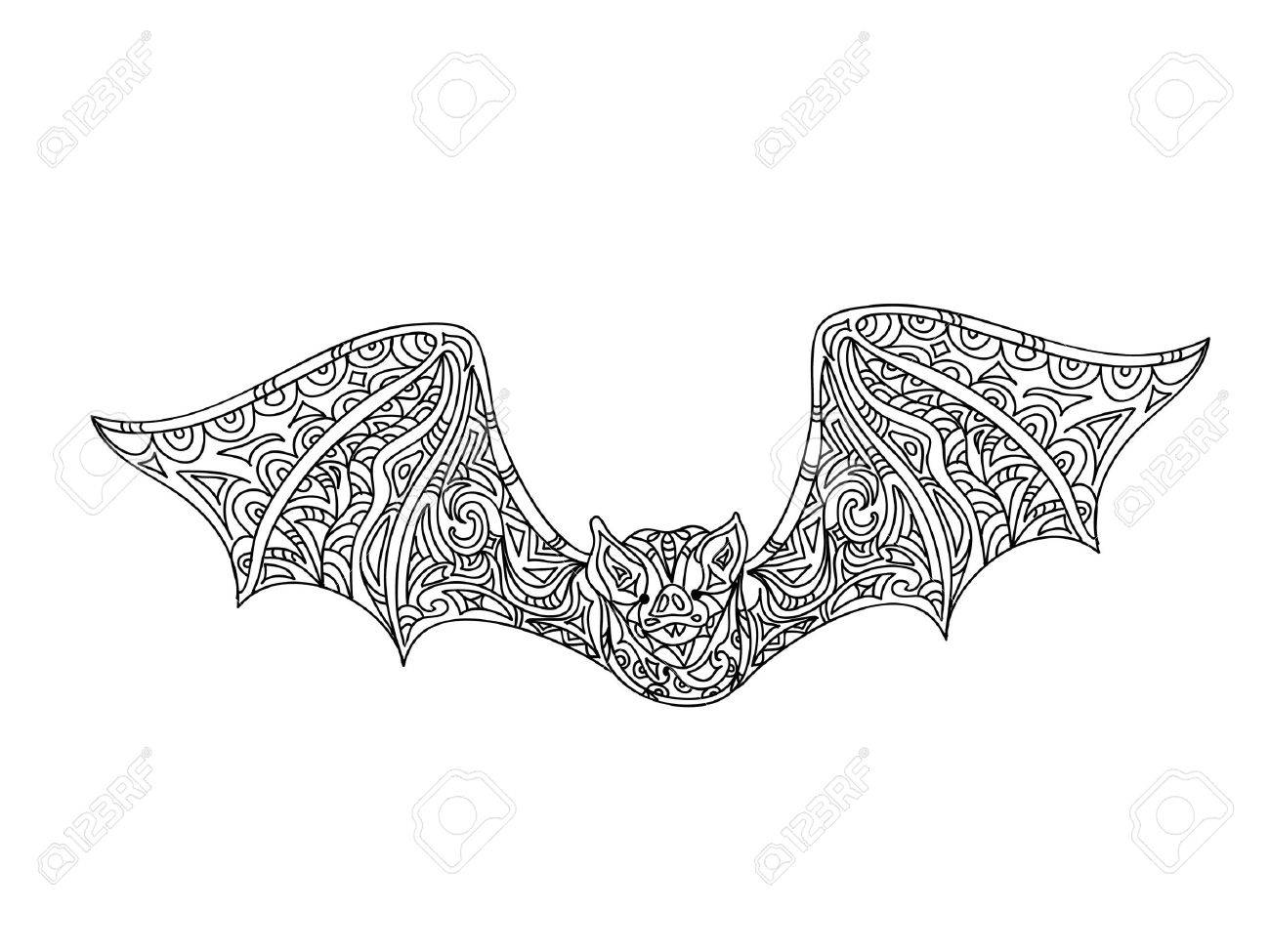 Bat Coloring Page Royalty Free Cliparts, Vectors, And Stock ...