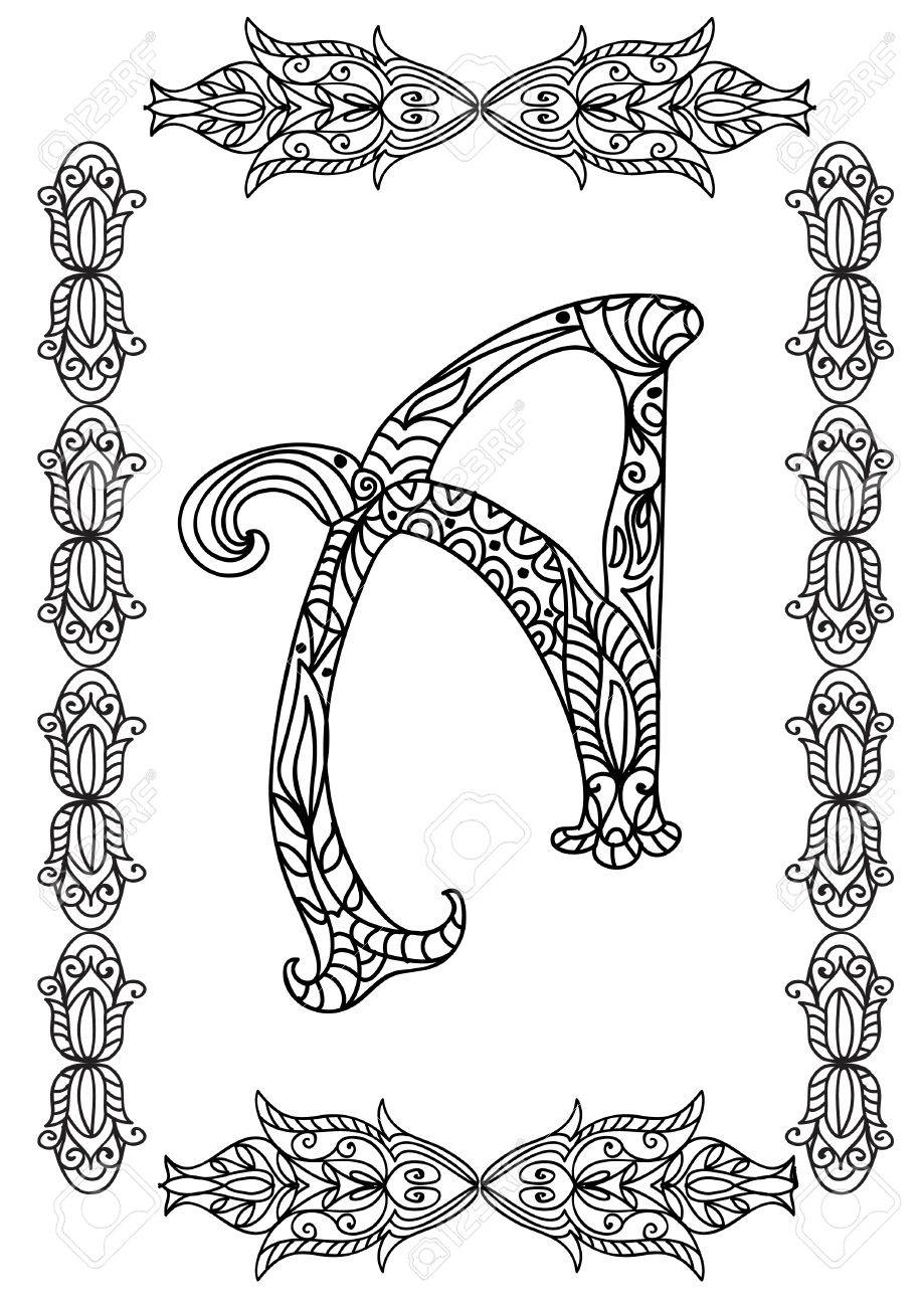 Letter A Coloring Page Royalty Free Cliparts, Vectors, And Stock ...