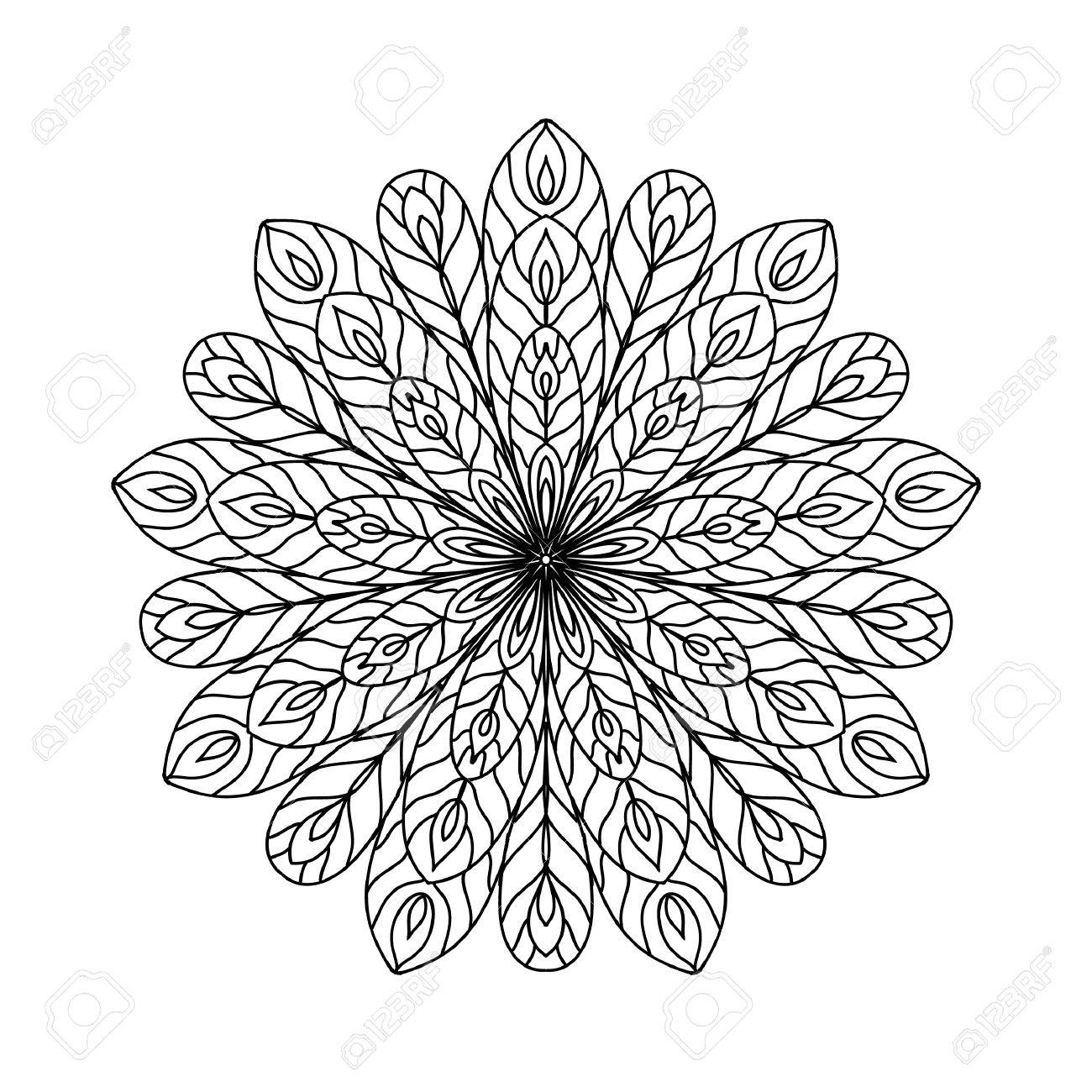 Abstract zentangle coloring page