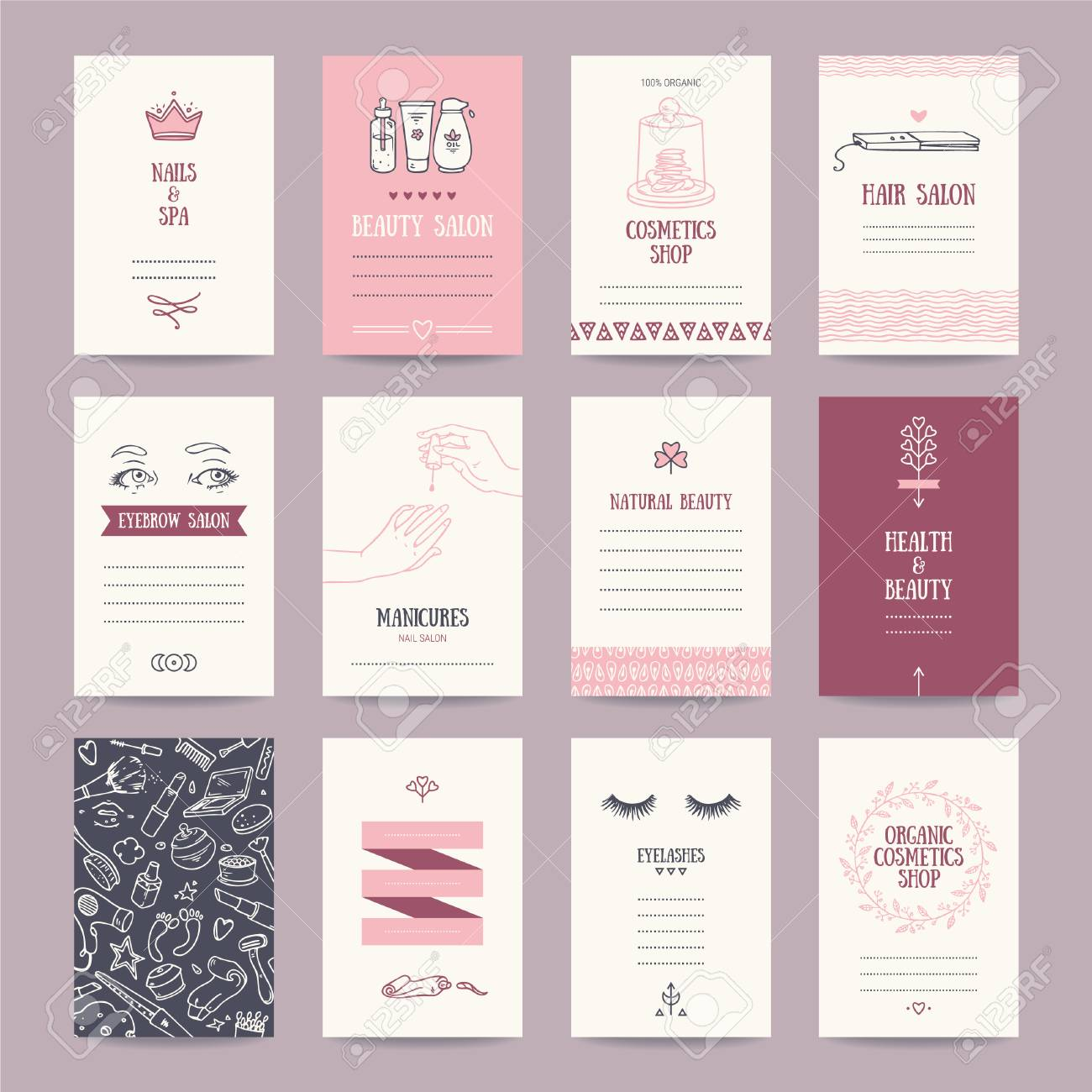 Cosmetics Shop Business Cards, Beauty Salon Invitations, Spa ...