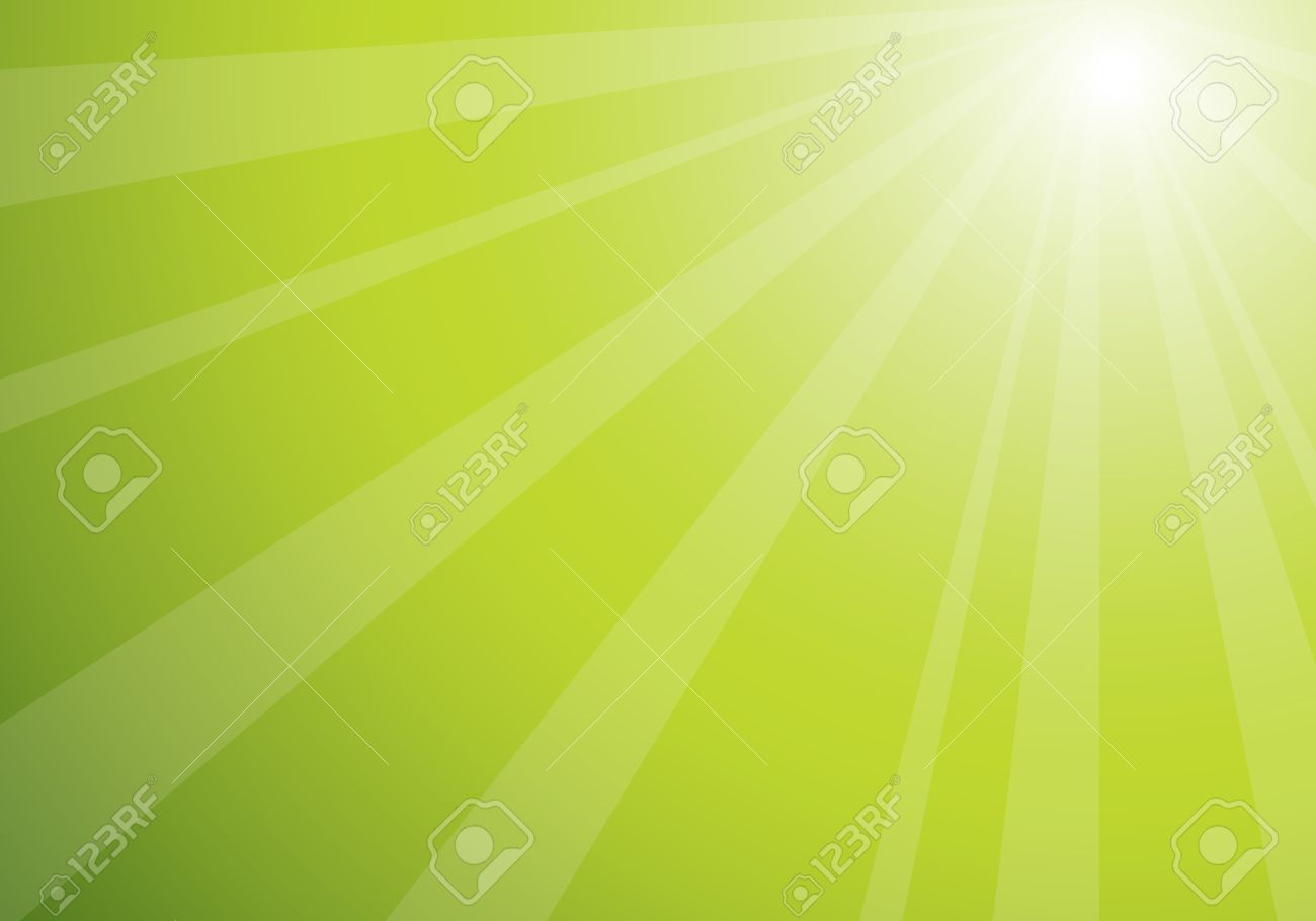 beautiful green sunburst, vector abstract background Stock Vector - 3675140