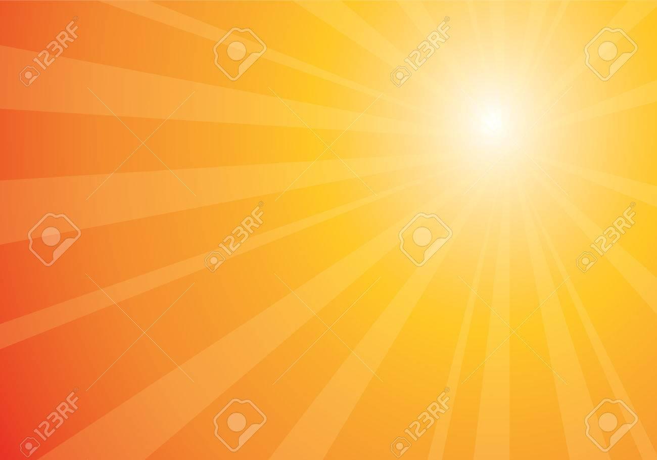 beautiful orange sunburst, vector abstract background Stock Vector - 3675147