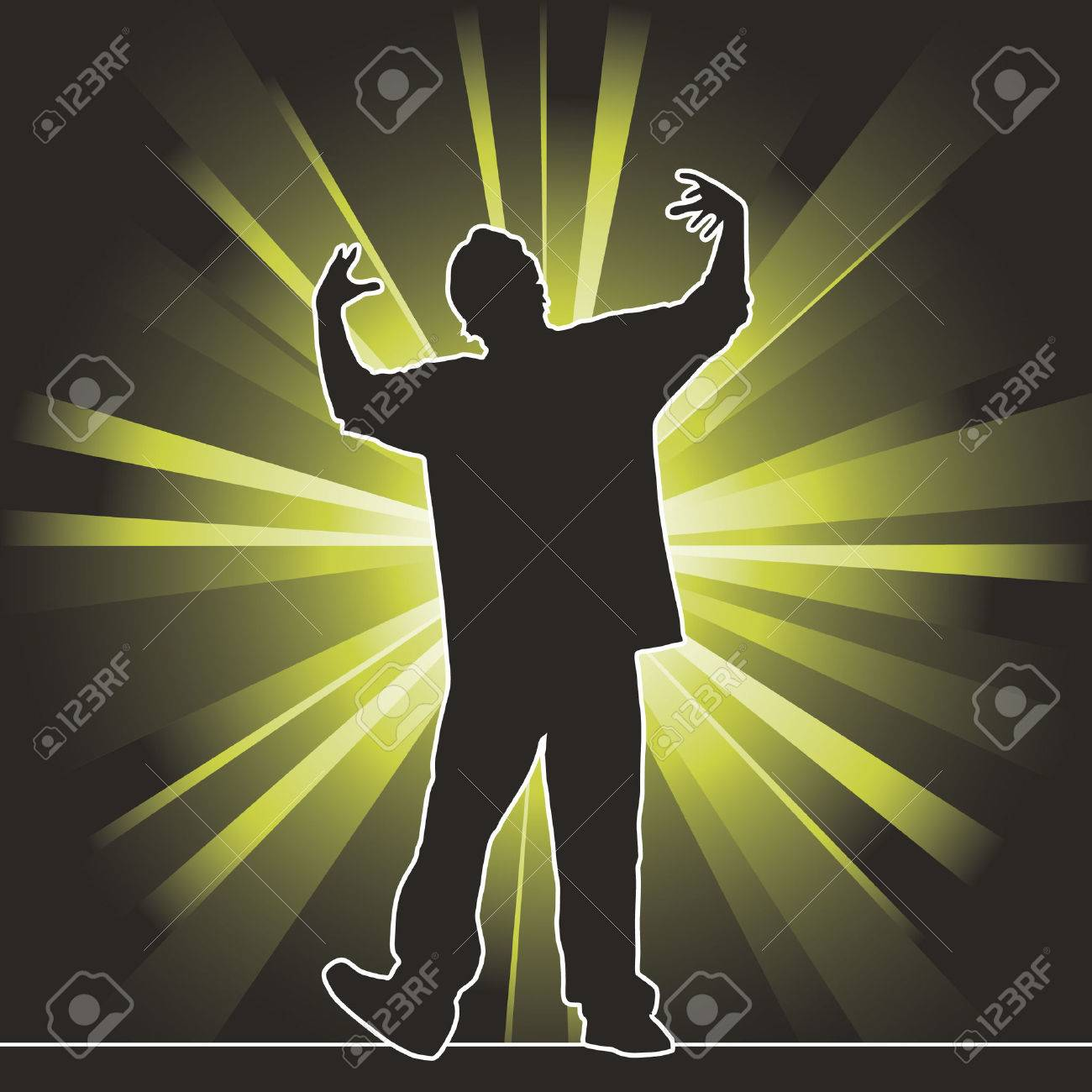 dancing silhouette, hip-hop, vector illustration Stock Vector - 5795902
