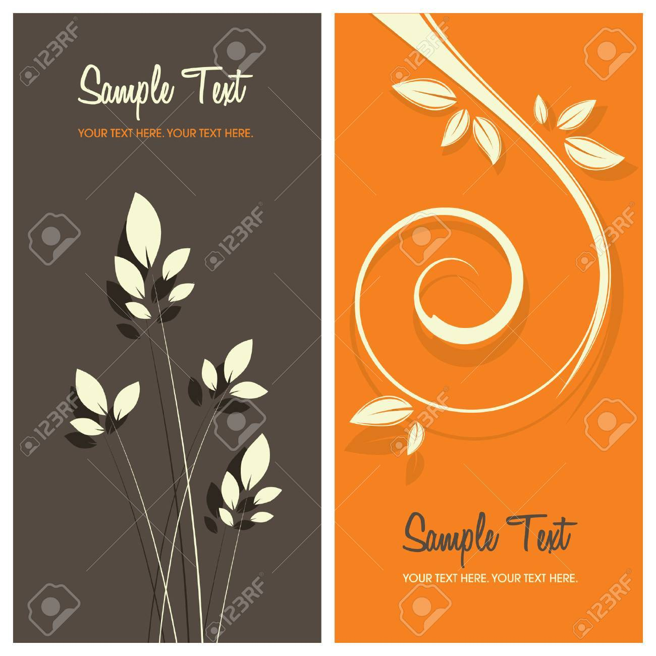 floral card background with copy space, vector illustration Stock Vector - 5795900