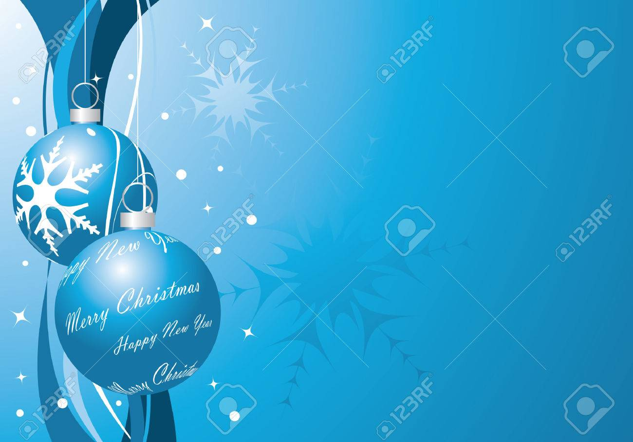 blue christmas background Stock Vector - 5871010