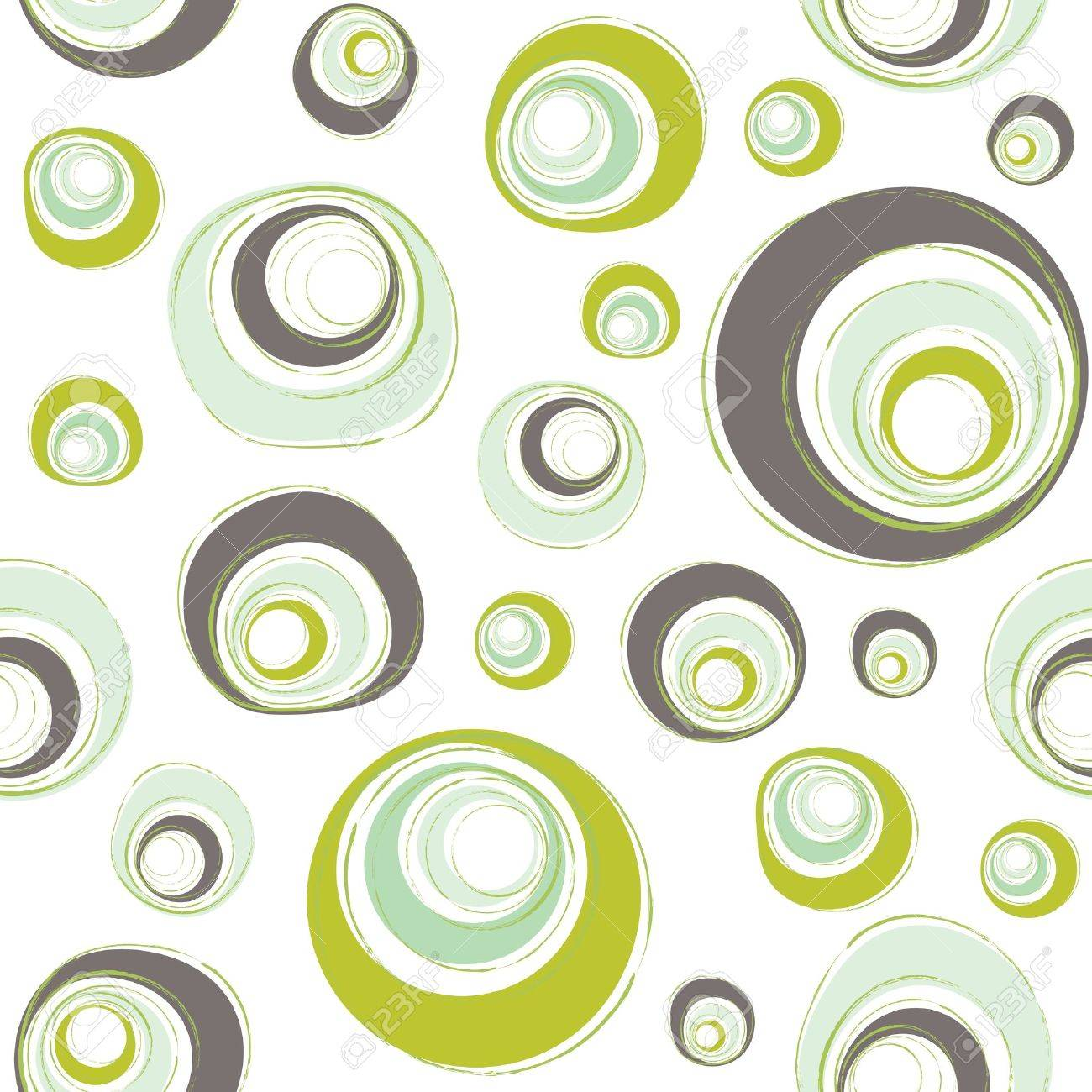 seamless retro pattern with circles Stock Vector - 10183459