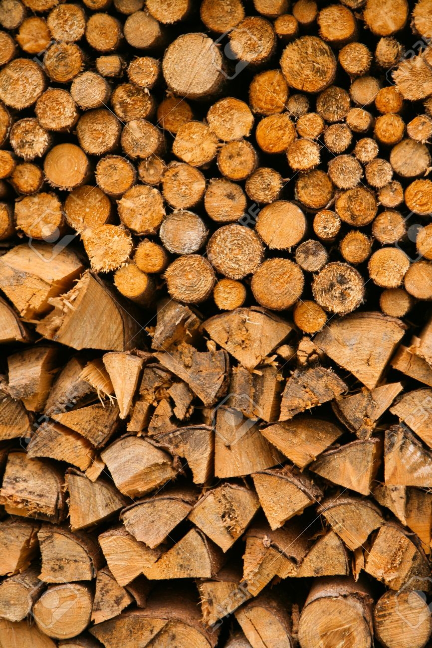A pile of chopped wood for fireplace Stock Photo - 11760427 - A Pile Of Chopped Wood For Fireplace Stock Photo, Picture And
