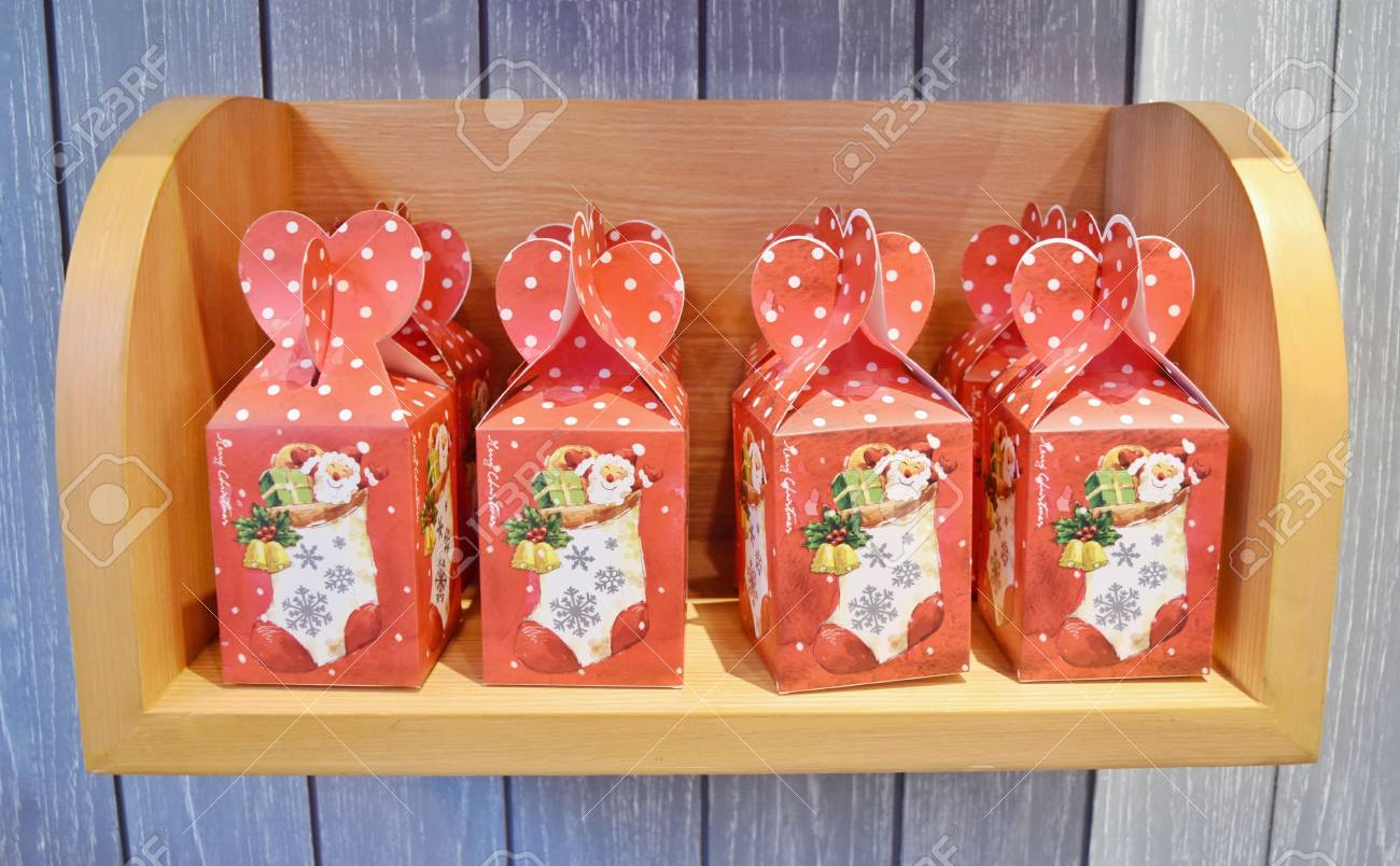 Cookie Box Set As Christmas Gift Sold In Coffee Shop Or Cafe Stock Photo Picture And Royalty Free Image Image 100365493