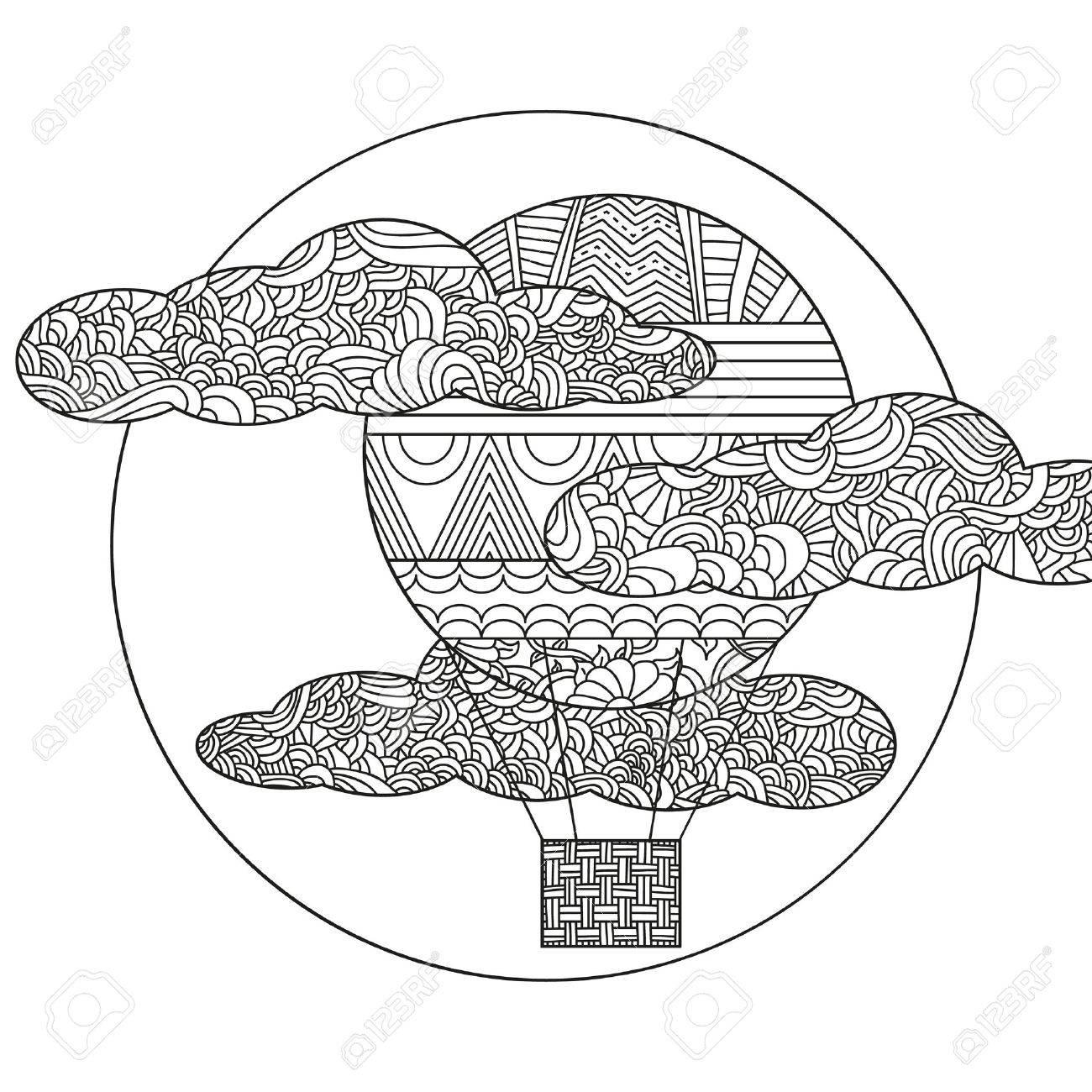 Original Globo De Aire Del Doodle. Puede Ser Utilizado Para El ...
