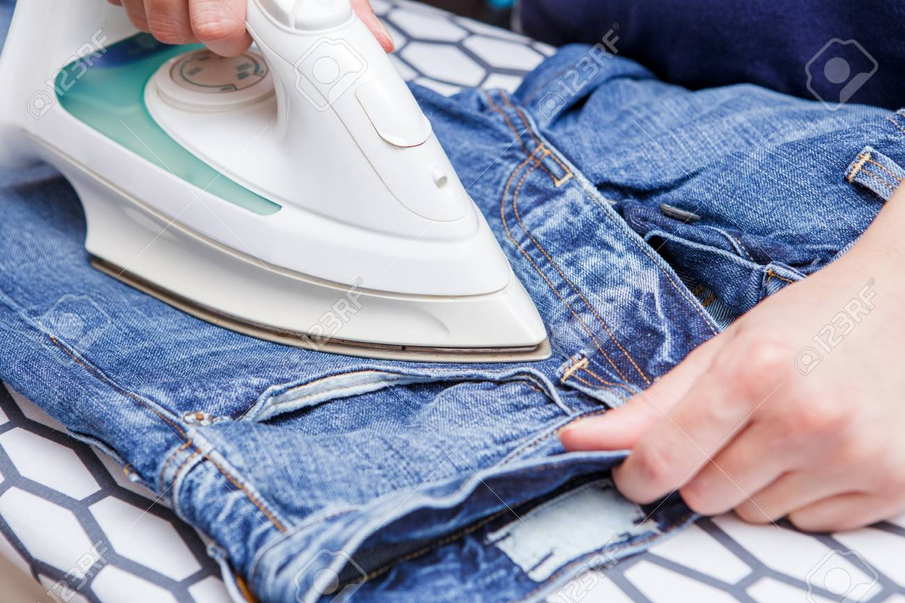Image result for ironing jeans