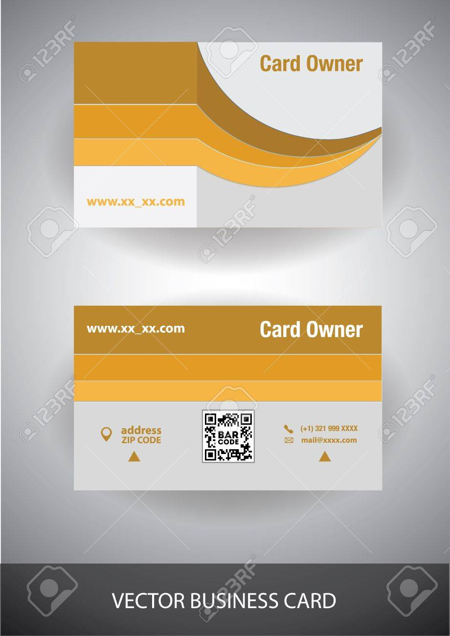 Creative Vector Business Card. Front And Back Side Royalty Free ...