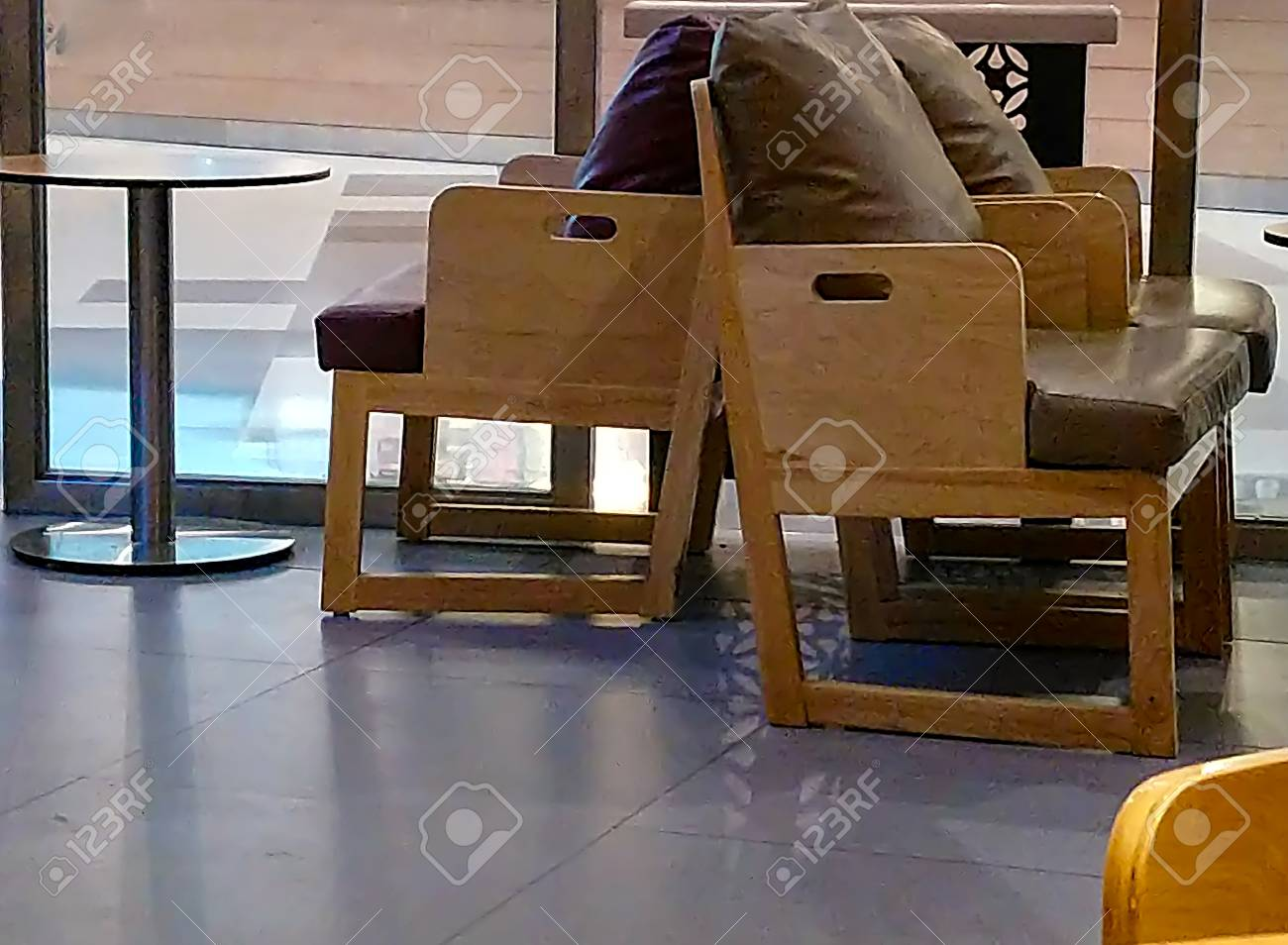 Chairs With Soft Corners In The Shop, Please Understand. Stock Photo    104233606