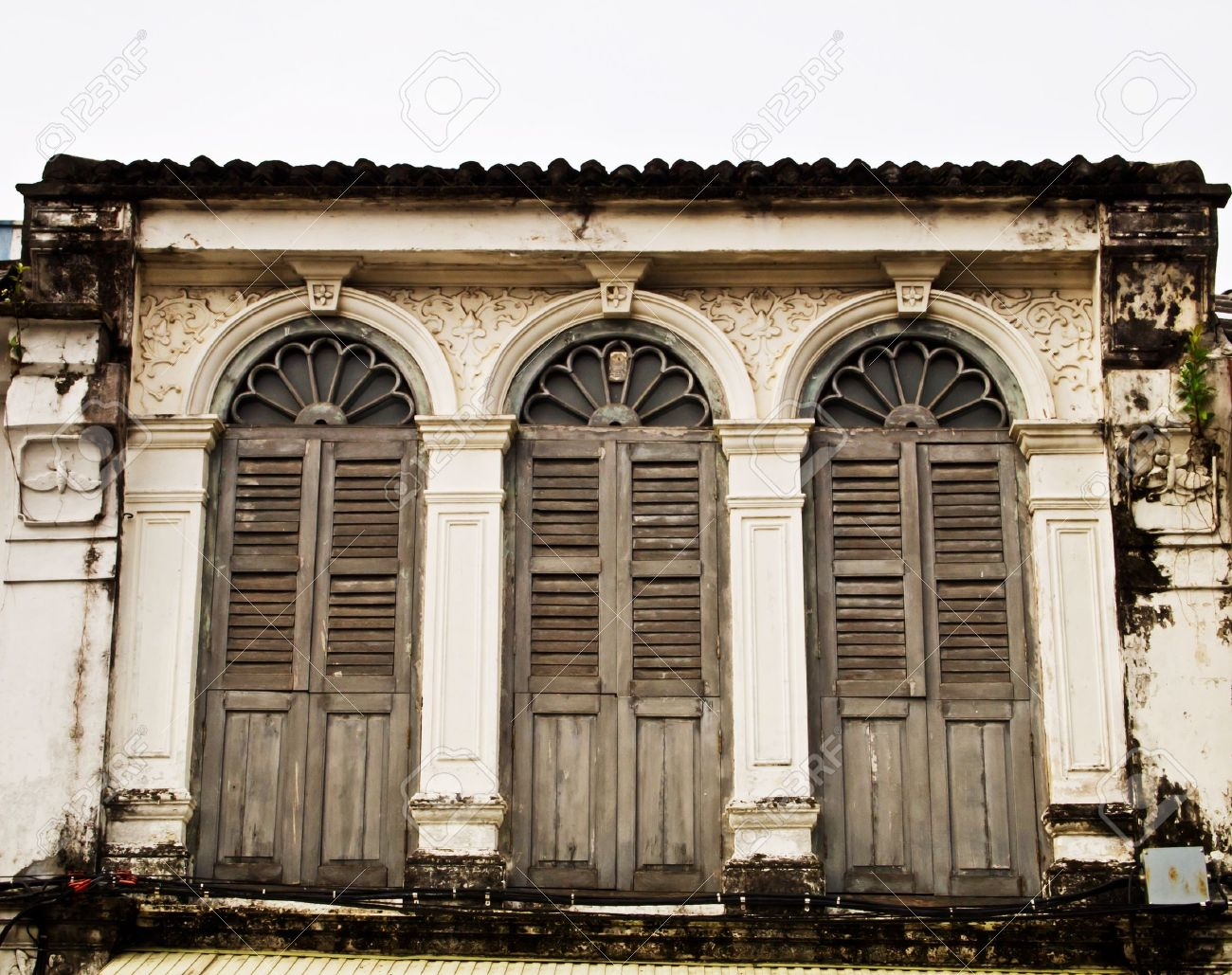 Old building in Phuket Thailand Stock Photo - 9798362