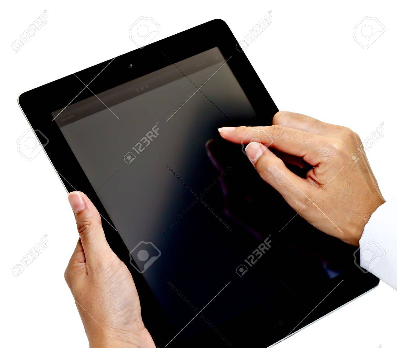 Tablet PC with hands Stock Photo - 9982272