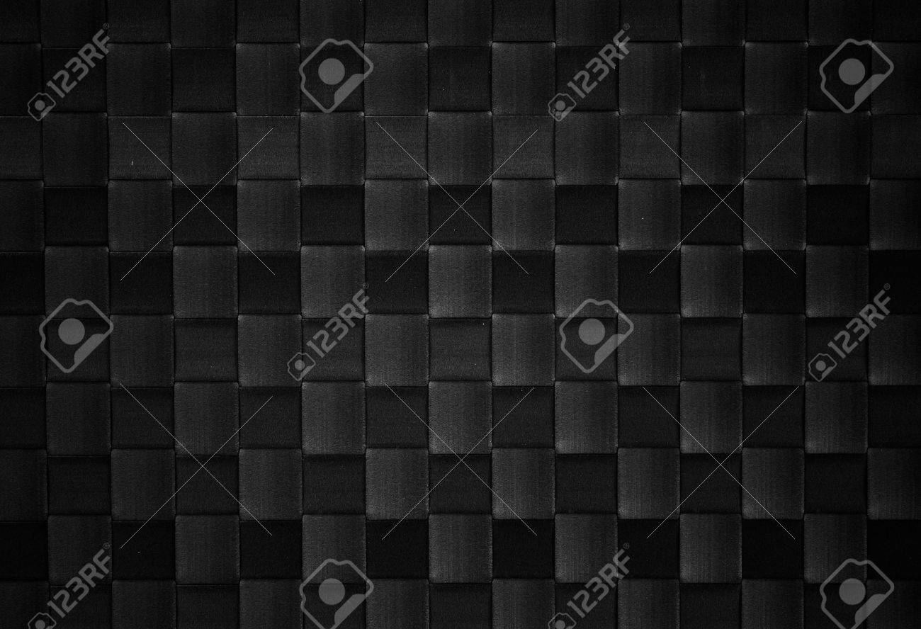 black woven leather background Stock Photo - 12345330