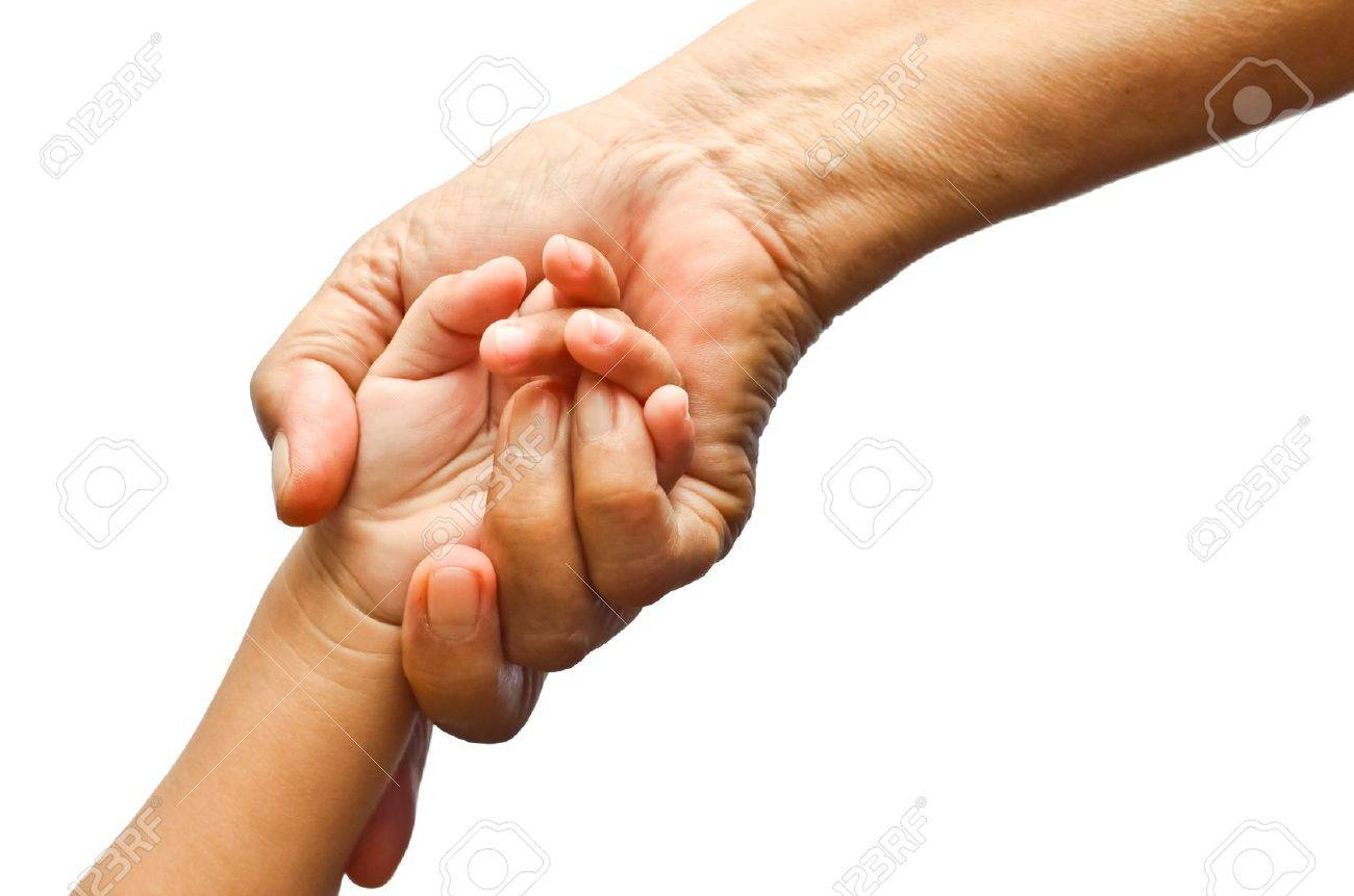 Holding girl's hand with love, isolated background Stock Photo - 10613325