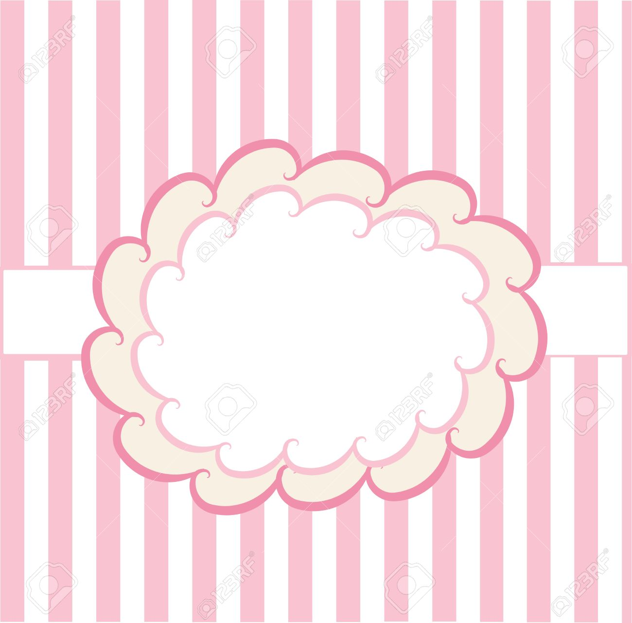 design template on pink and white background royalty free cliparts