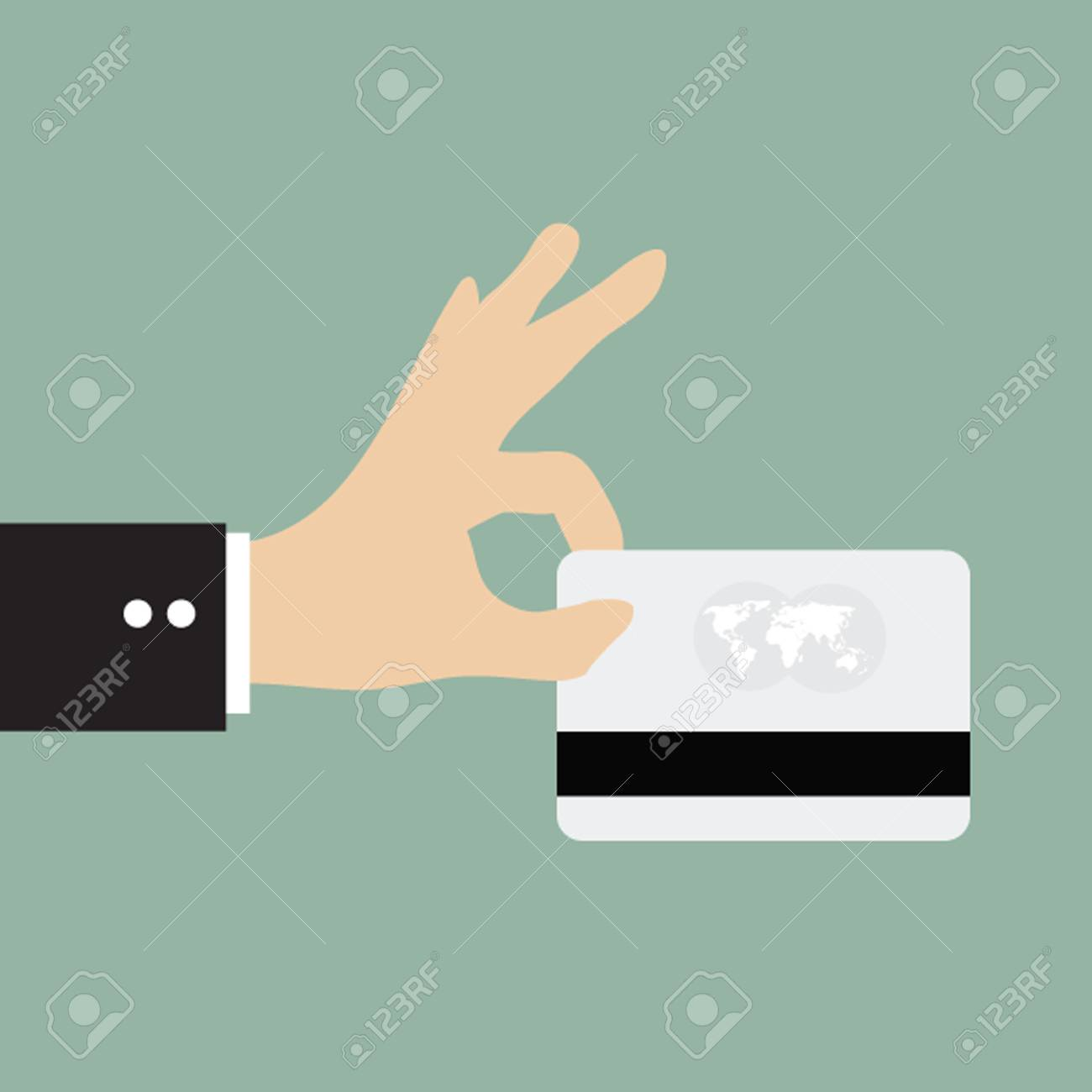 Business Man Using Credit Card Payment Royalty Free Cliparts ...