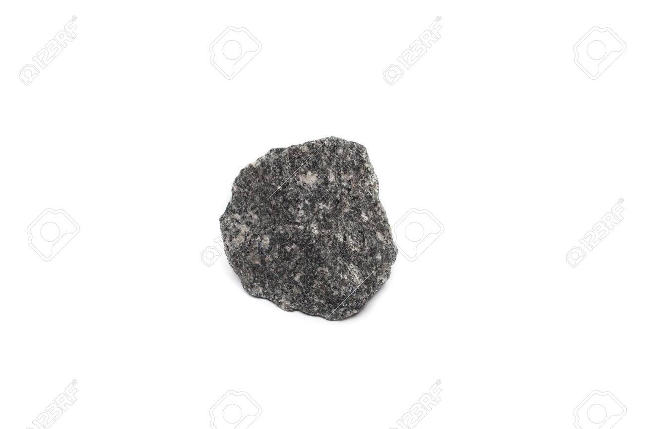 Isolated Limestone One Kind Of Chemical Sedimentary Rock Stock Photo