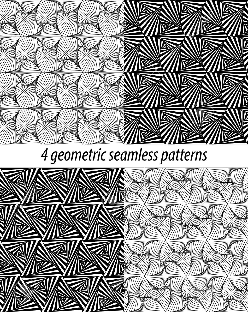 set von 4 vektor zentangle muster schwarz wei zentangle hintergrnde paradox zentangle - Zentangle Muster