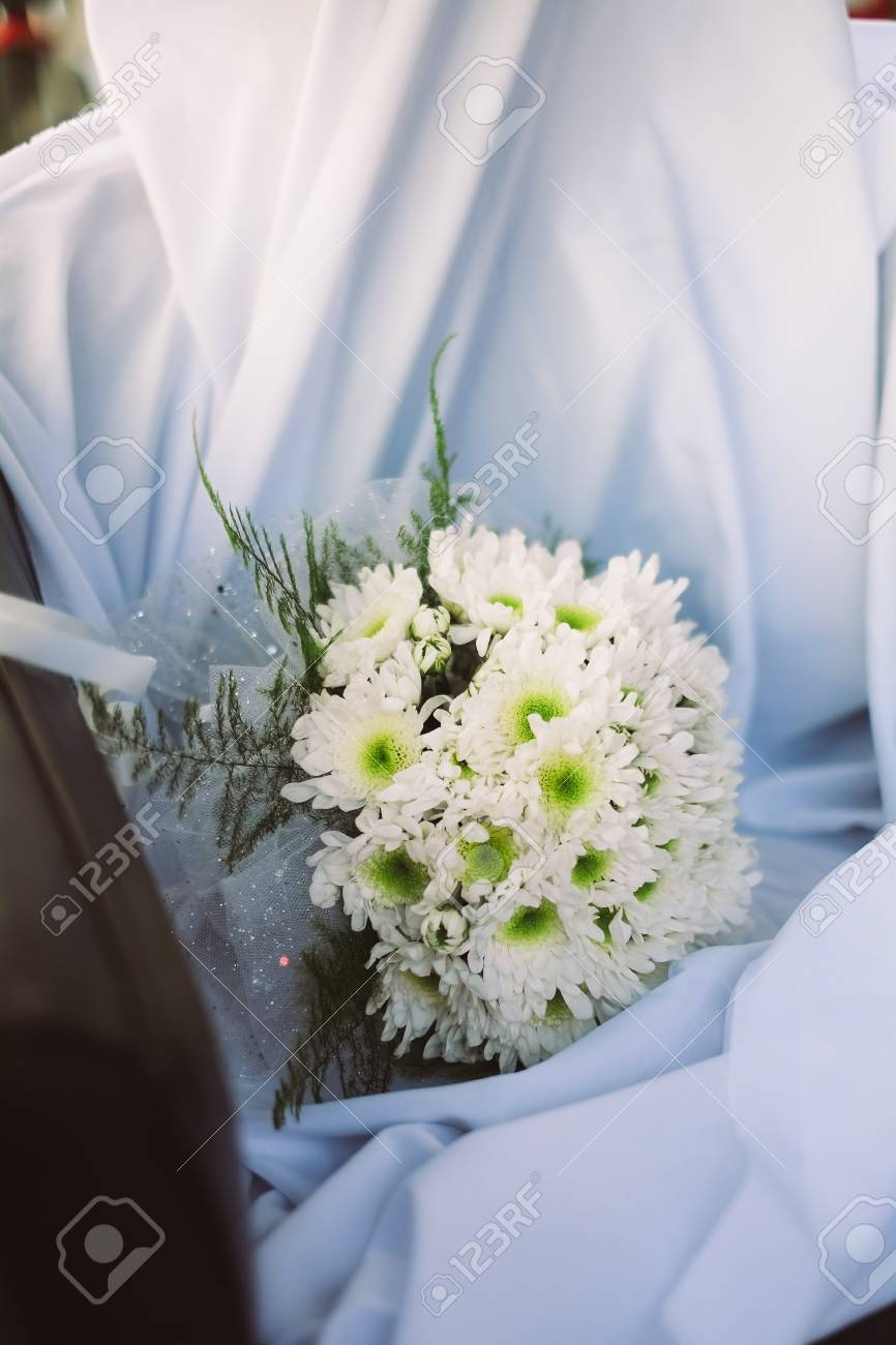 Wedding Bouquet From Fresh Spring Flowers. Bridal Bouquet With ...