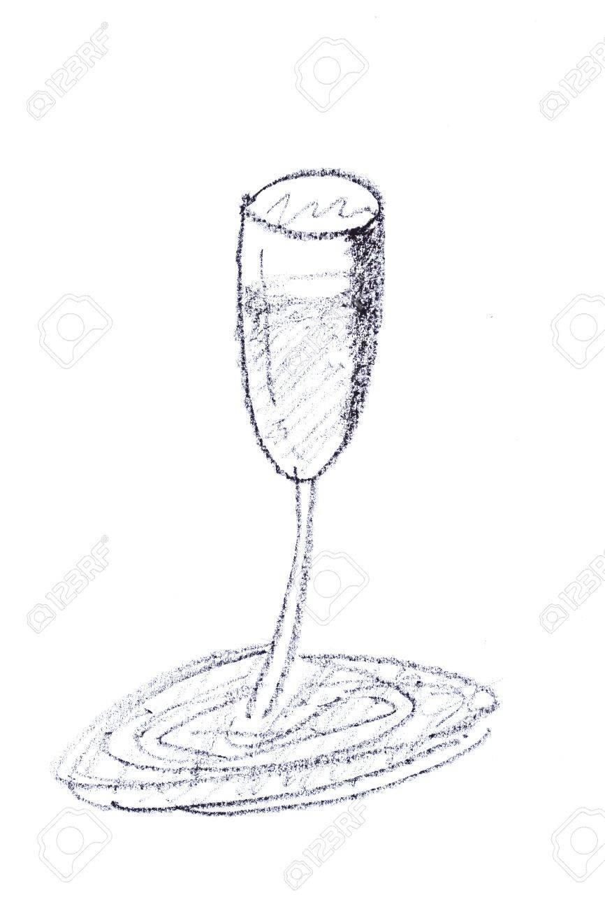 Hand Draw Sketch Of Wine Glass Stock Photo Picture And Royalty Free