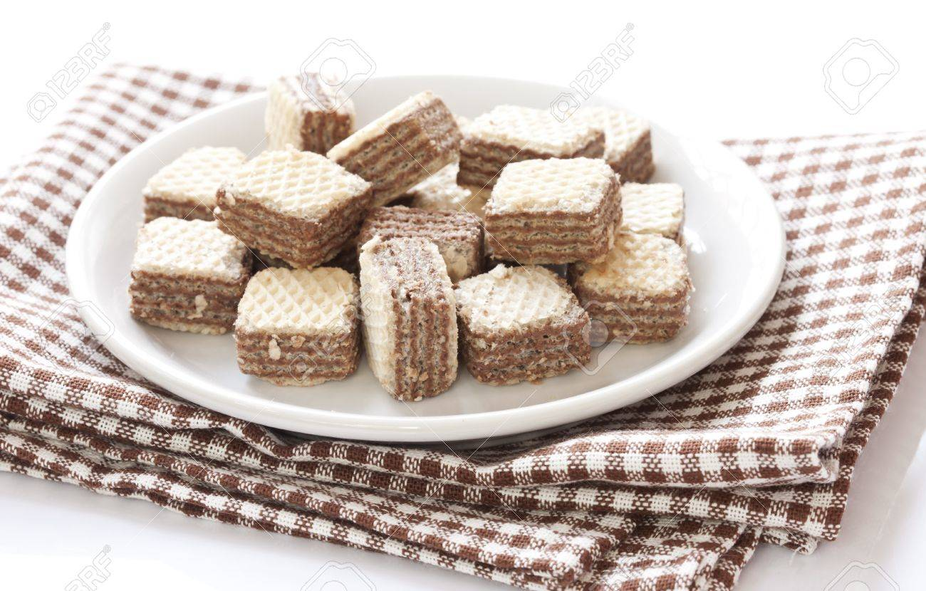 Chocolate Wafer Cookies Stock Photo, Picture And Royalty Free ...