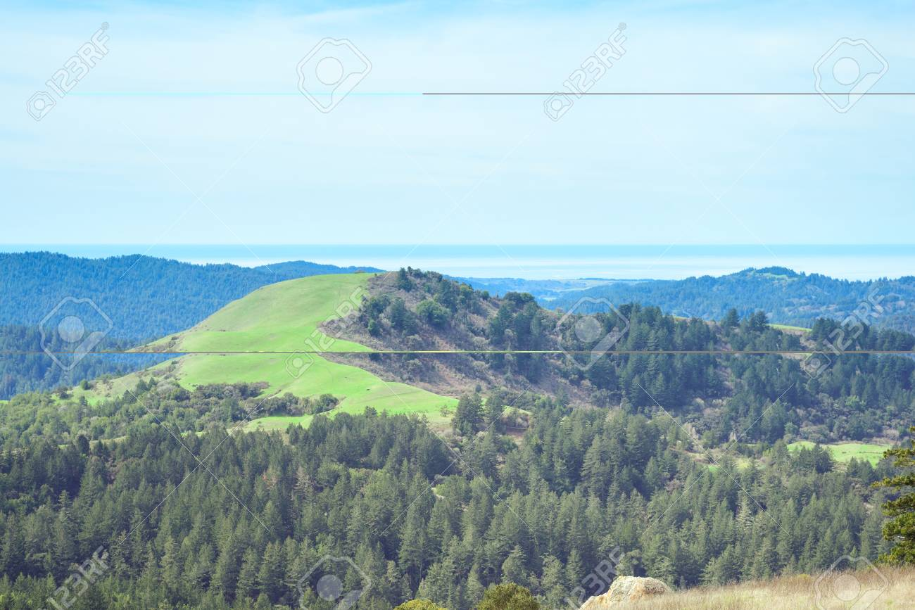 Beautiful scenic view from mountain top - 106272129