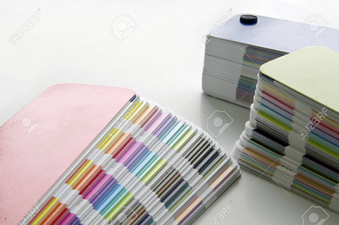 Pantone sample colors catalogues Stock Photo - 8491797