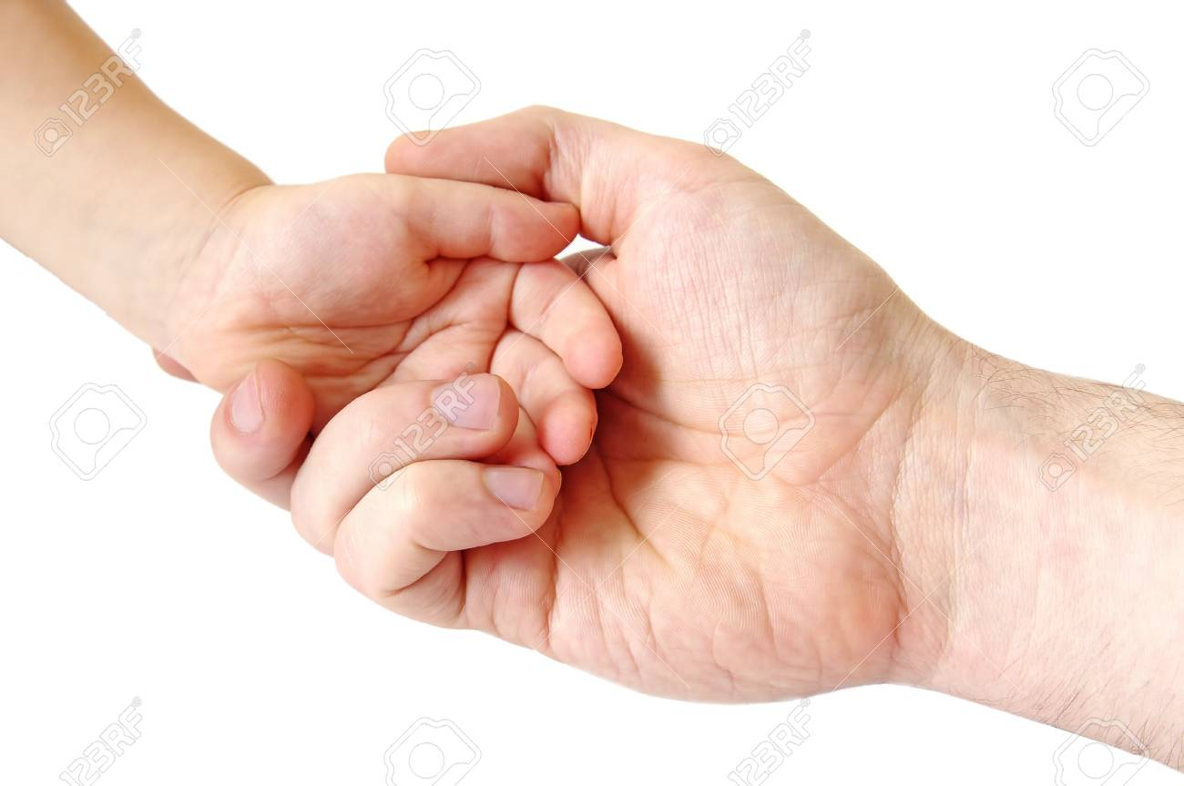 father and child hands; closeup Stock Photo - 8615800