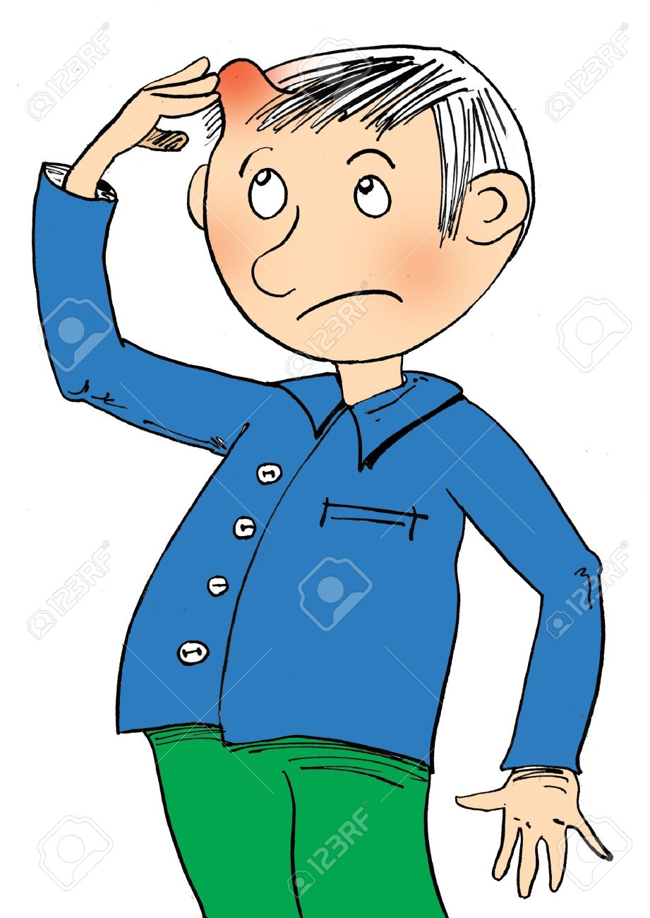 Boy with a sick head and lump Stock Photo - 10774877