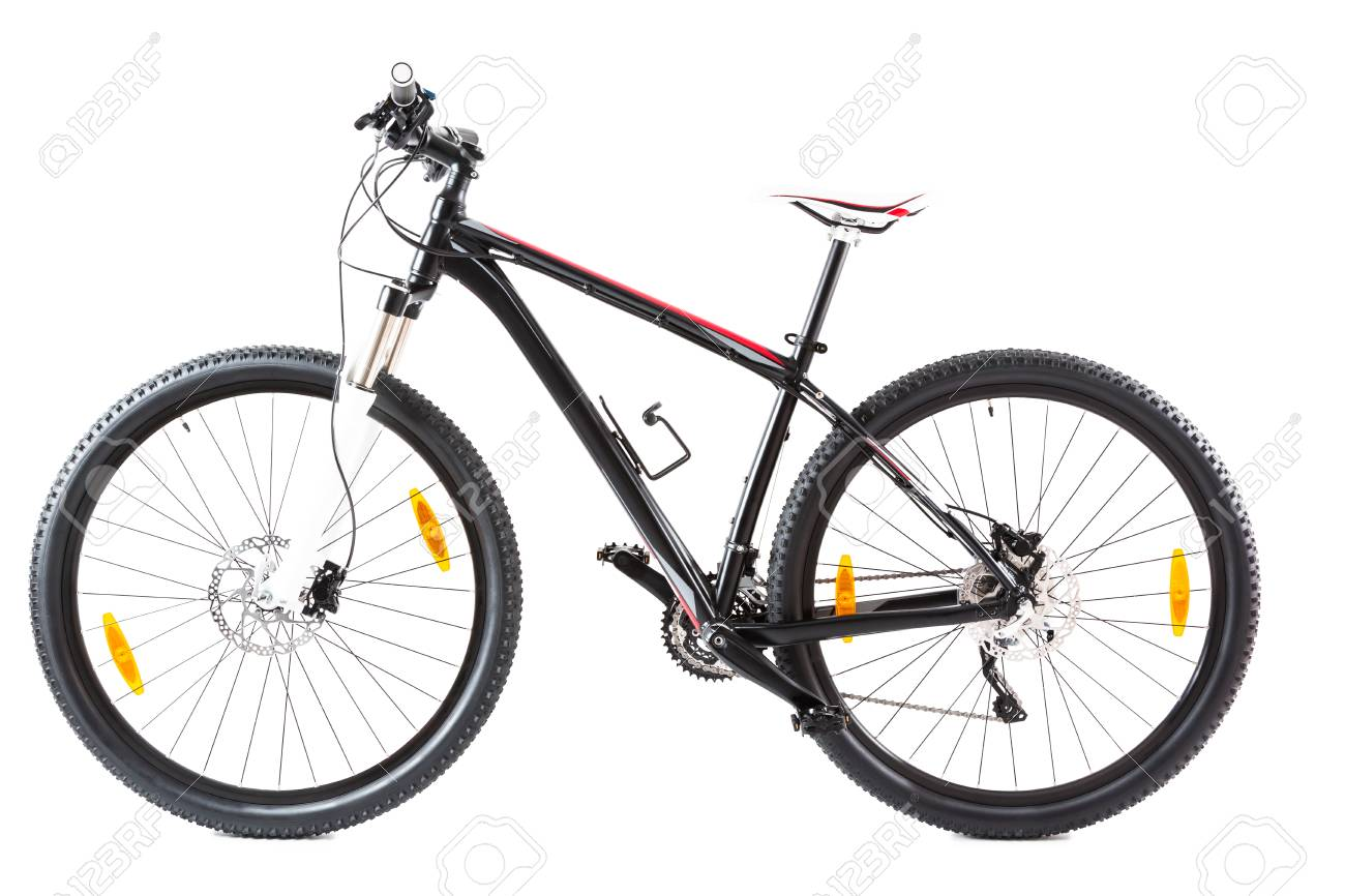 Mountain Bike With 29 Inch Wheels On White Stock Photo Picture And