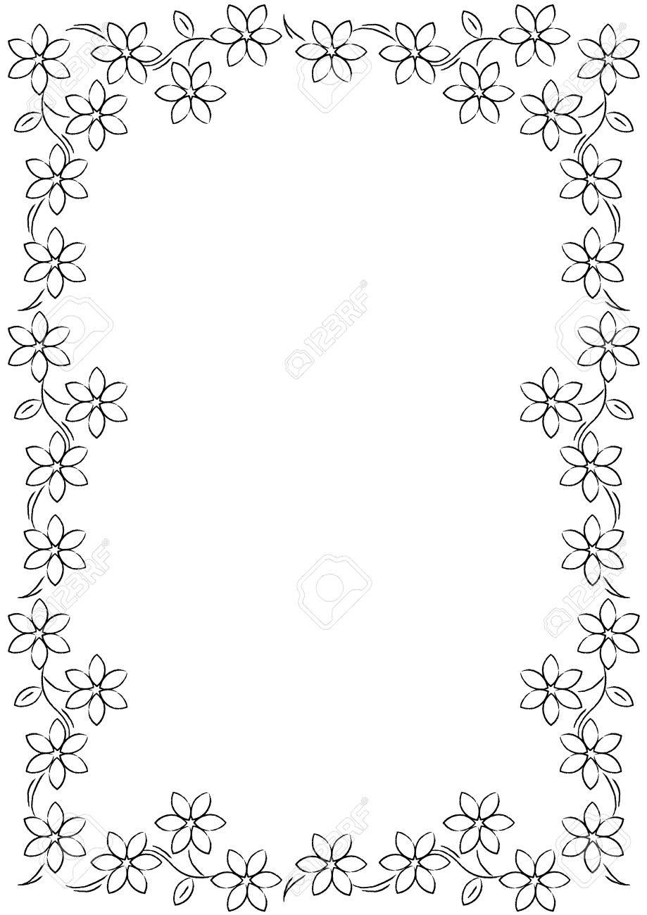Flower border background black white stock photo picture and flower border background black white stock photo 19874382 mightylinksfo Image collections