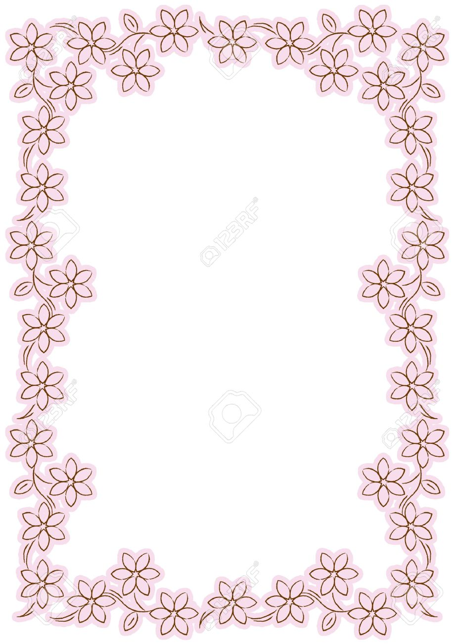 Pink flower border stock photo picture and royalty free image pink flower border mightylinksfo Images