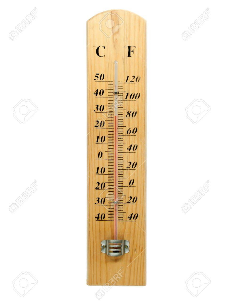 celsius and fahrenheit thermometer isolated stock photo picture and