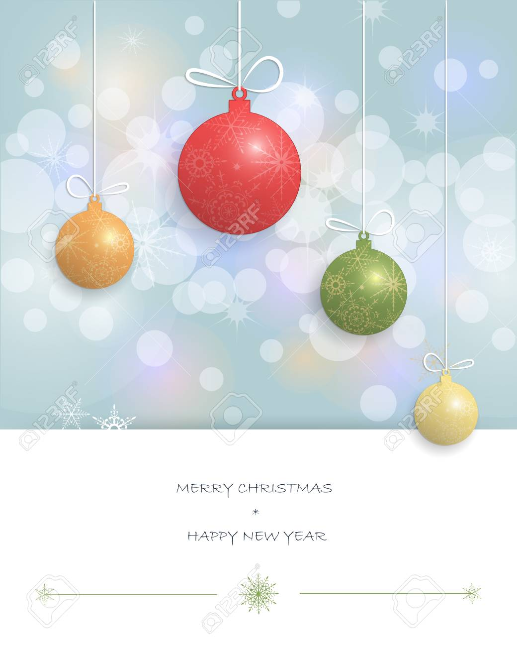 Christmas Greeting Cards Design.Merry Christmas Card Design Greeting Cards With Christmas Ball