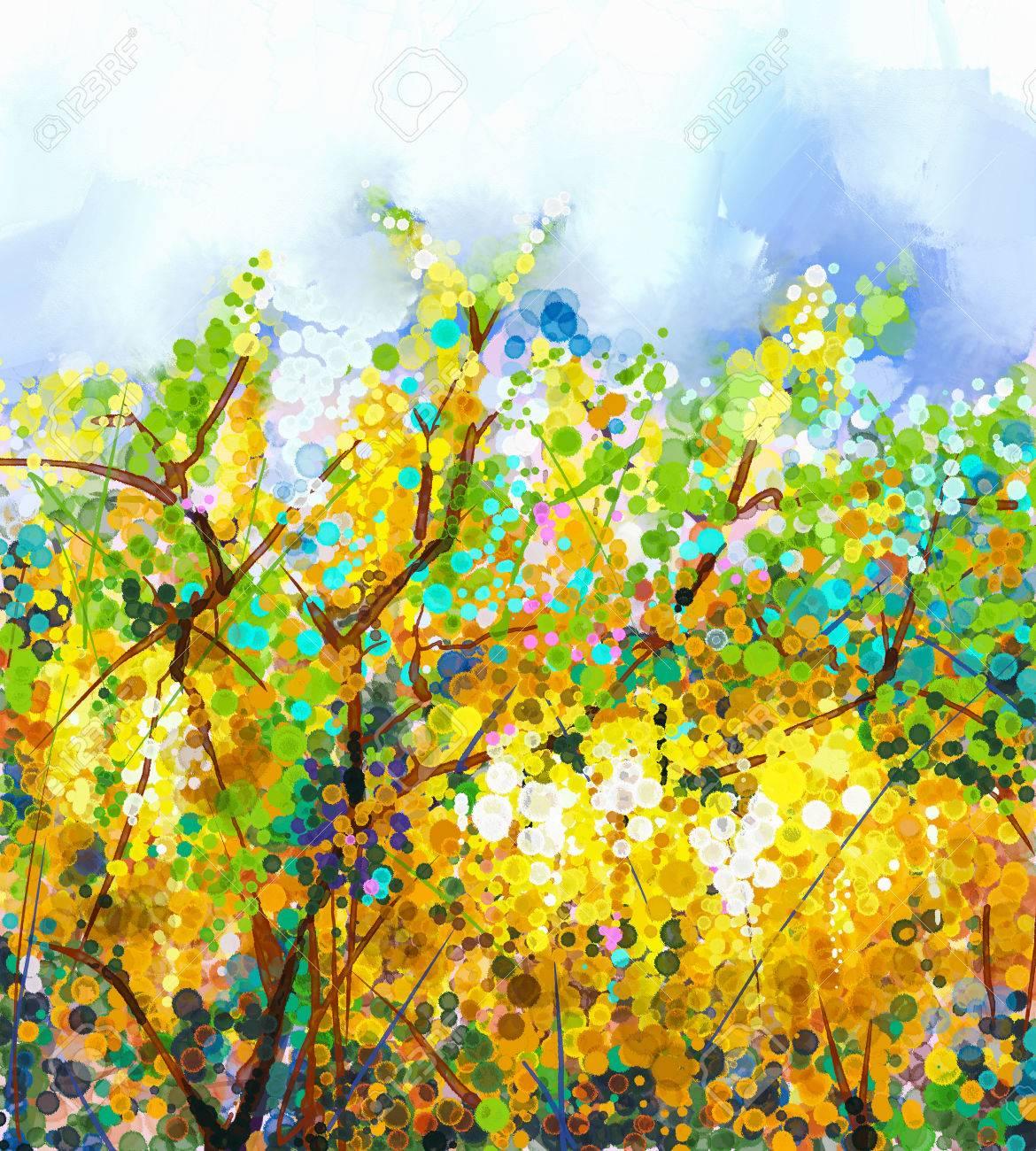 Resume Fleurs Aquarelle Melange De Peinture De Couleur A L Huile