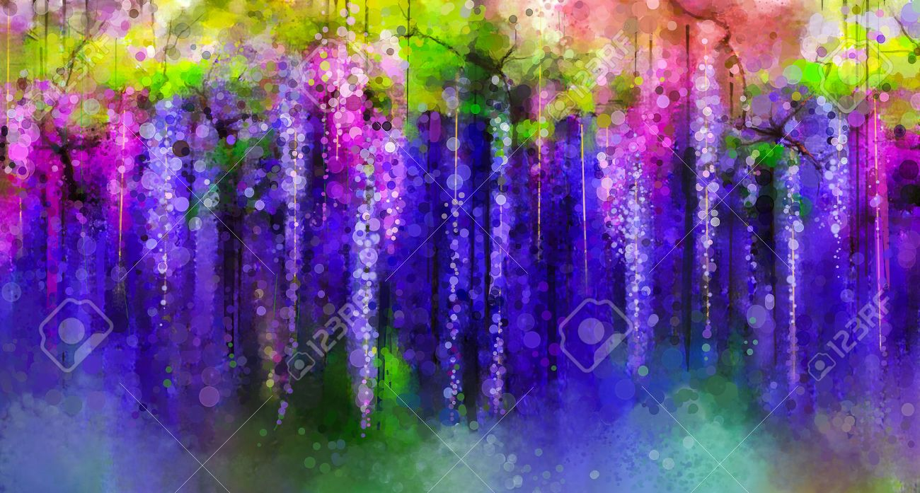 Abstract violet red and yellow color flowers watercolor painting abstract violet red and yellow color flowers watercolor painting spring purple flowers wisteria dhlflorist Image collections