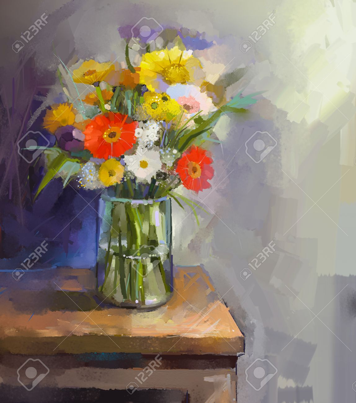 21553 flower vase stock illustrations cliparts and royalty free glass vase with bouquet gerbera flowers oil painting reviewsmspy