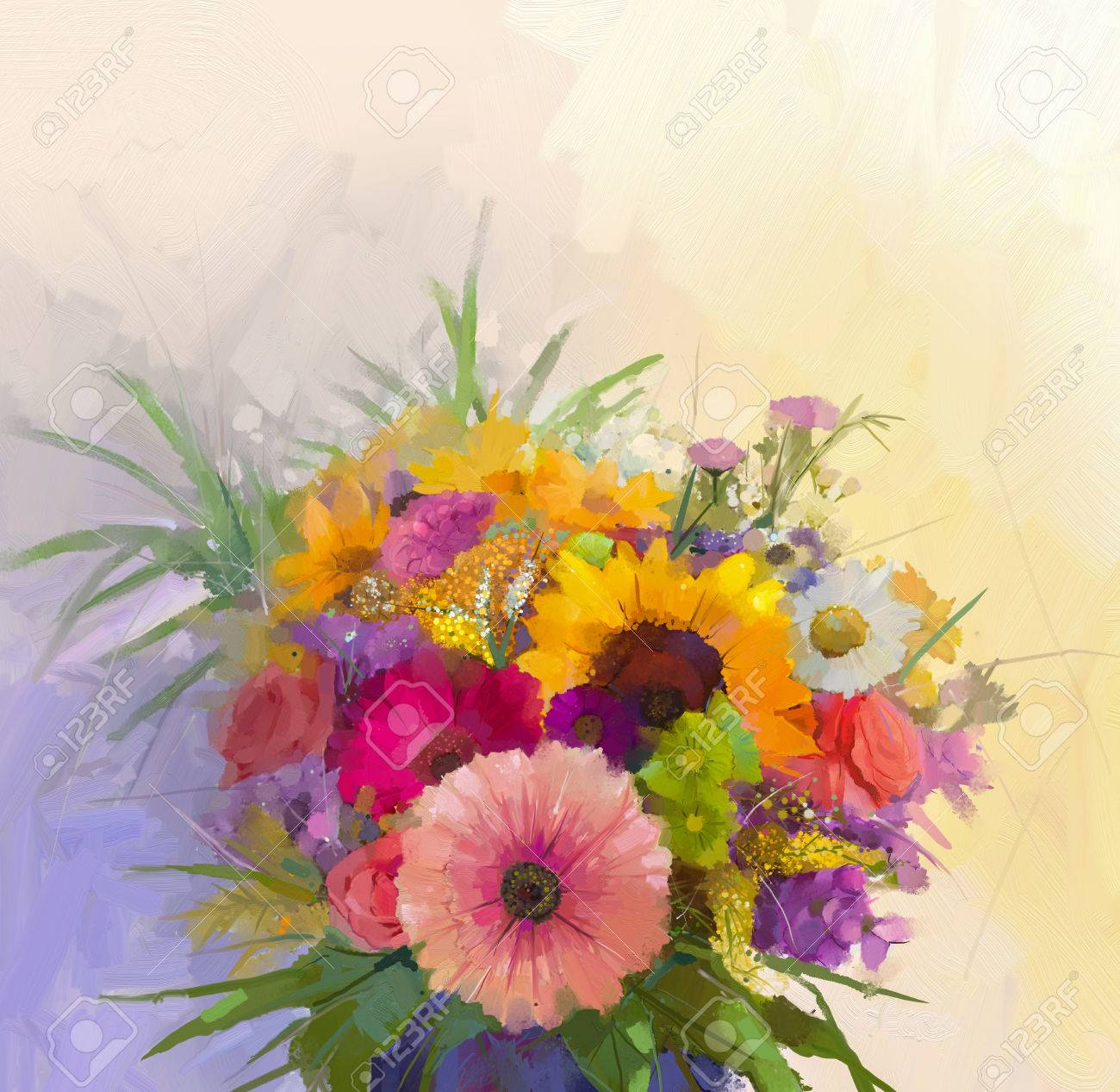 Vase with still life a bouquet of flowers oil painting stock photo stock photo vase with still life a bouquet of flowers oil painting izmirmasajfo