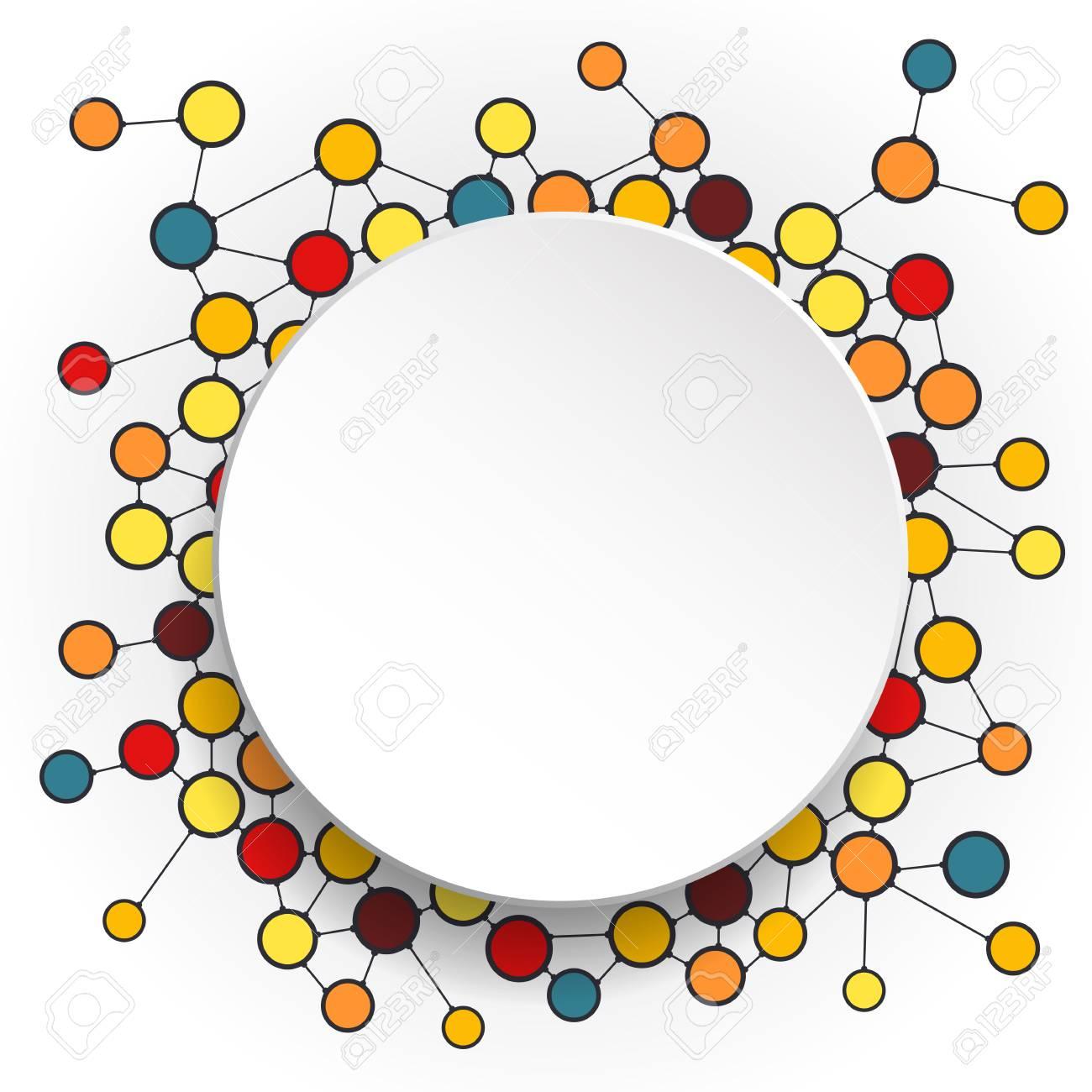 Abstrakte Moleküle Und 3D-Papierkreise Mit Leeren Platz Für Ihre ...