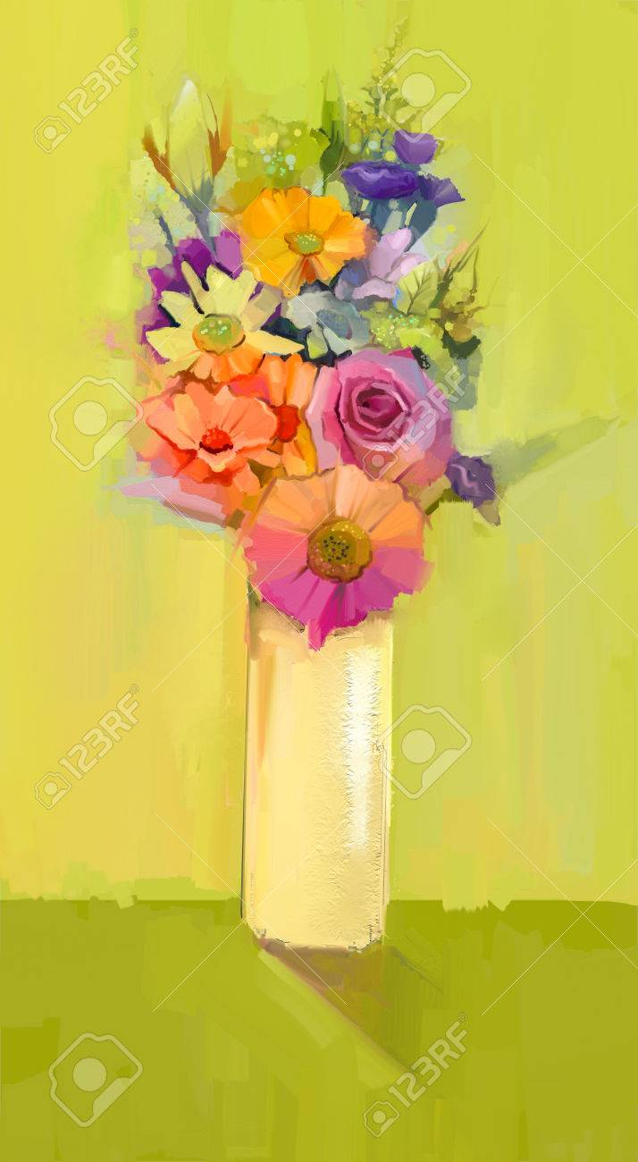 Still life of white yellow and red color flowers oil painting still life of white yellow and red color flowers oil painting a bouquet of reviewsmspy