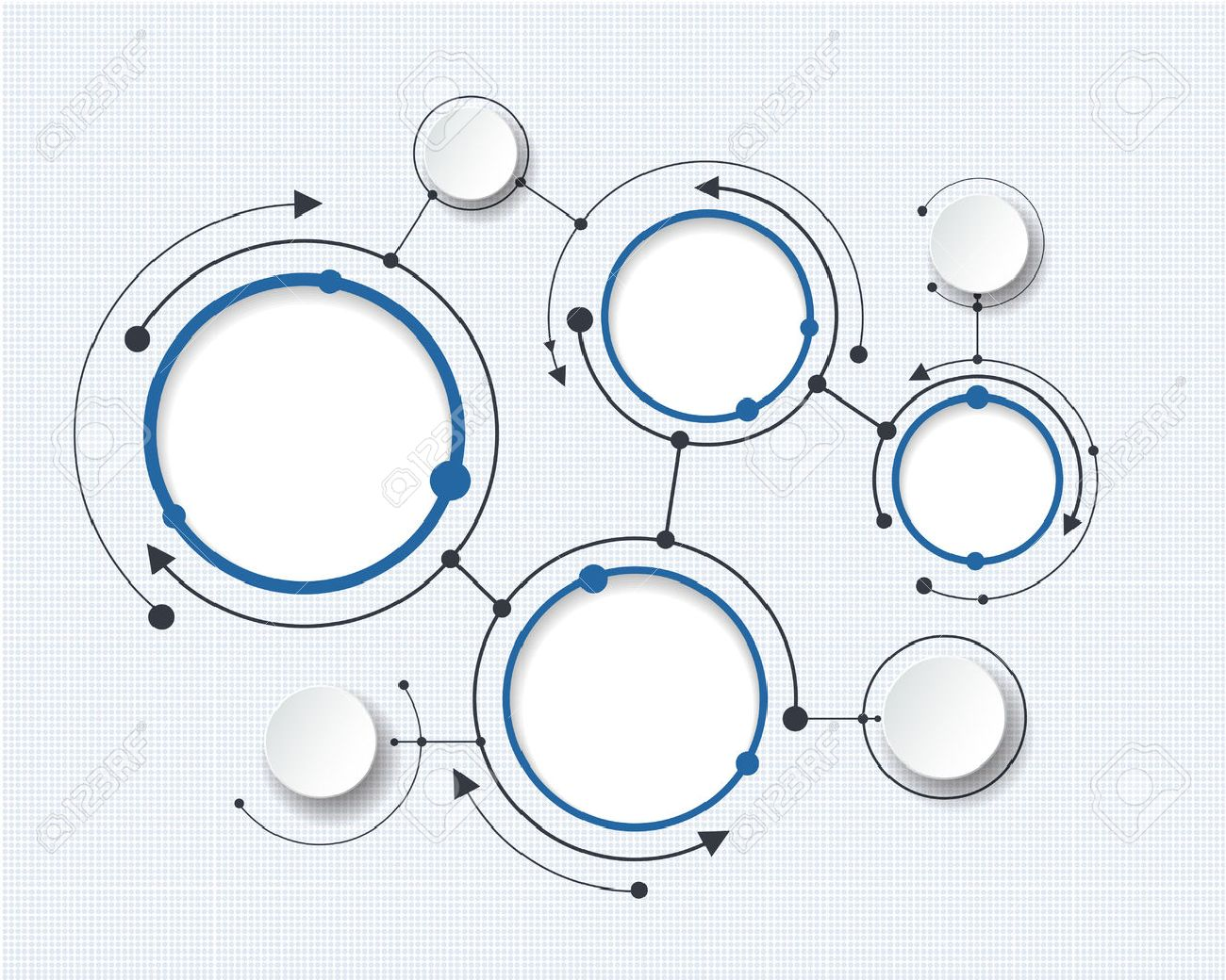 Abstract molecules with 3d paper circle and blank space for your content, infographic template, communication, business, network and web design. Vector illustration social media technology concept Stock Vector - 47154078