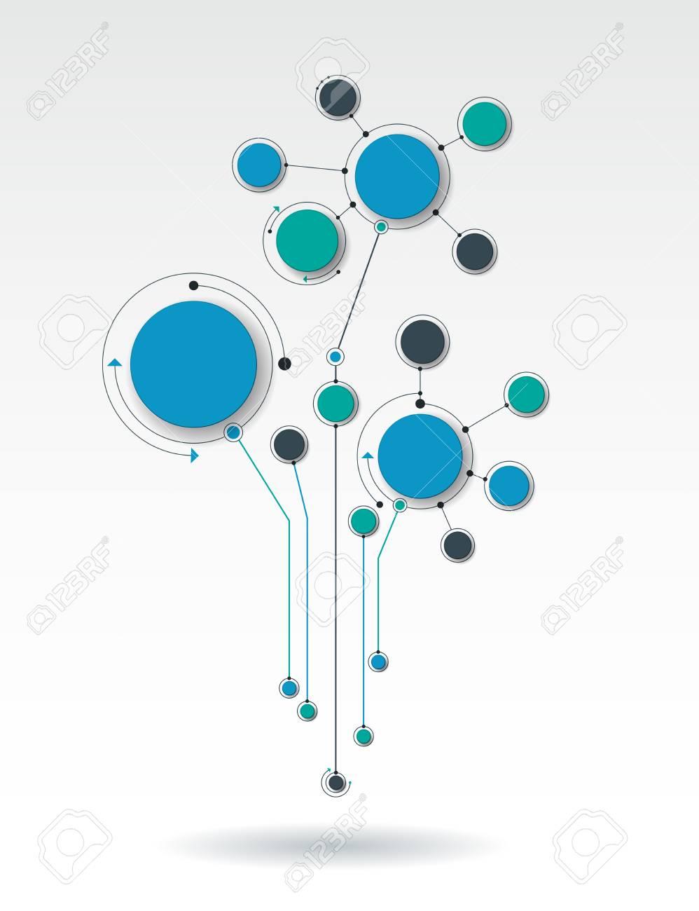 Abbildung 3D-Papierkreise In Molekülstruktur Mit Leeren Platz Für ...